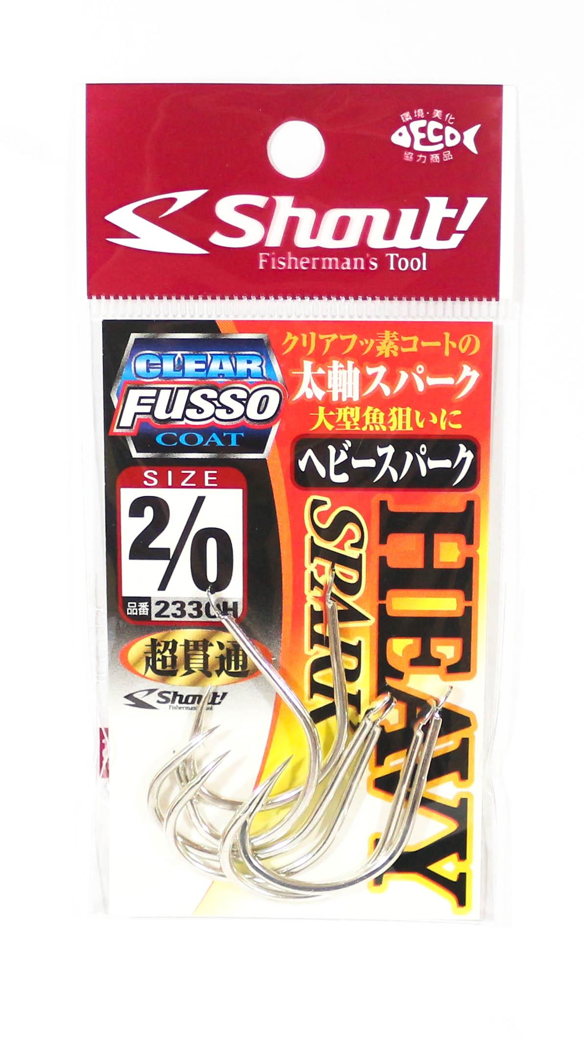 Shout 233-CH Spark Heavy Jigging Single Hook TC Clear Coat Size 2/0 (4930)