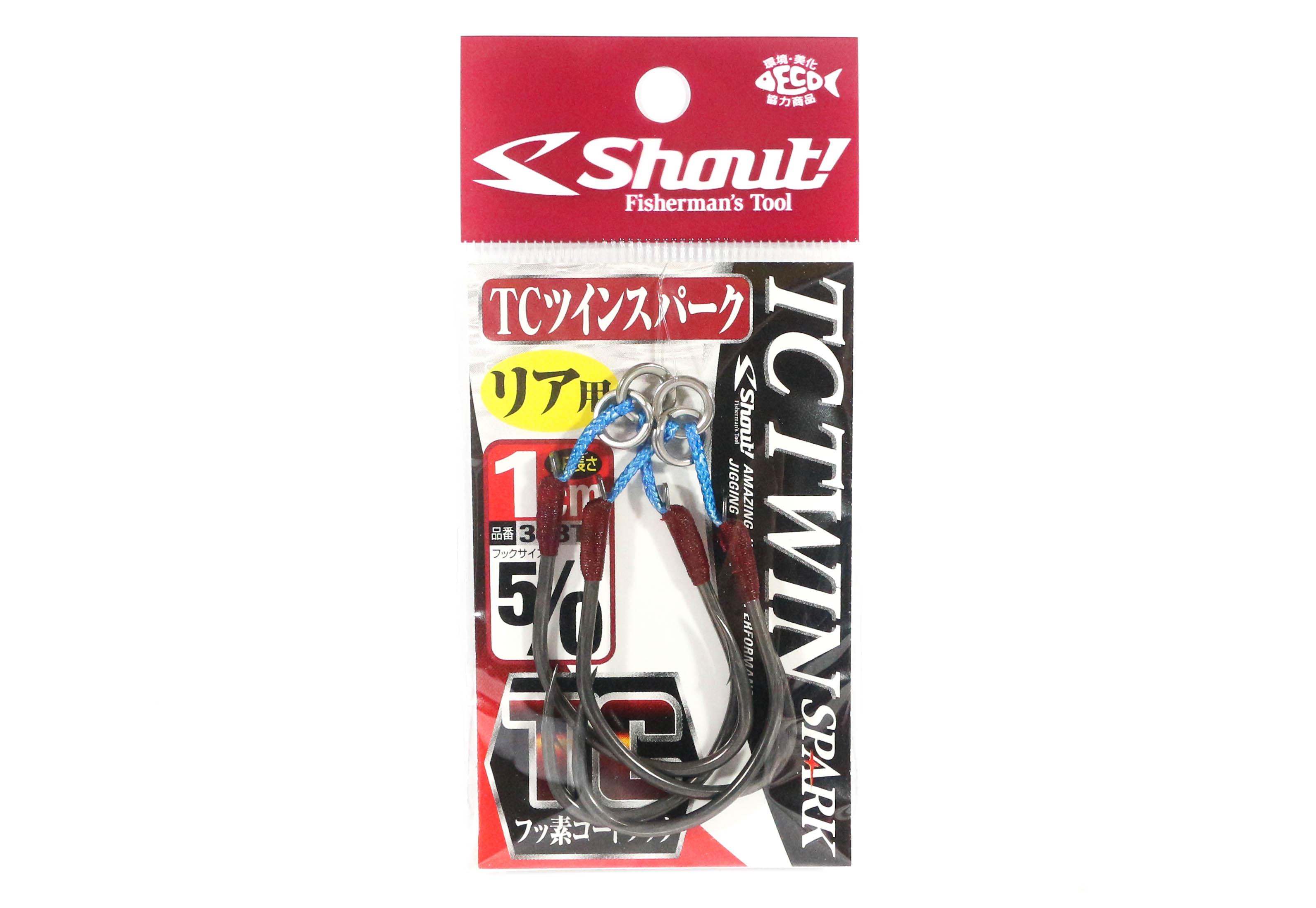 Sale Shout 338-TT TC Twin Spark Assist Hooks 1 cm Size 5/0 (5340)