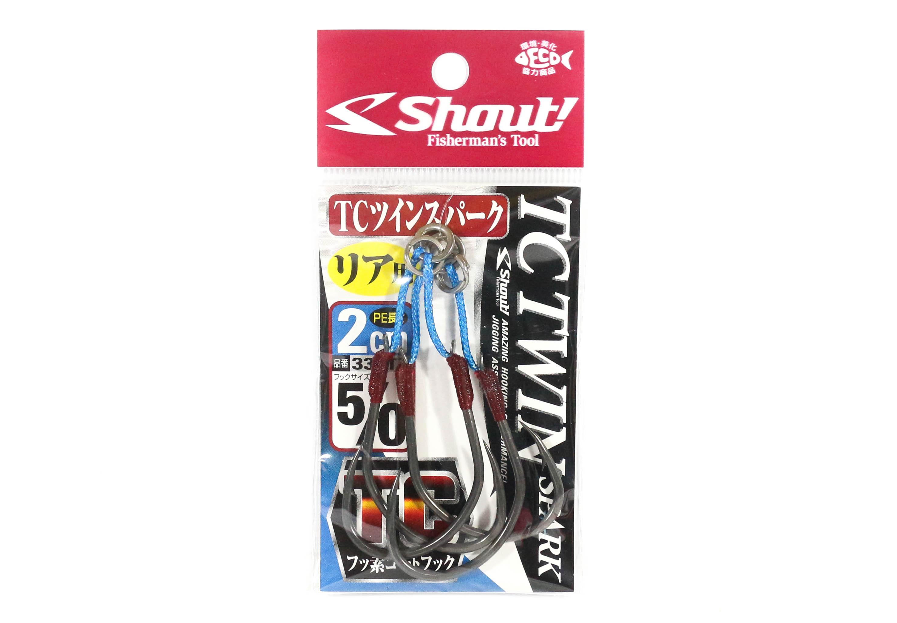 Sale Shout 339-TT TC Twin Spark Assist Hooks 2 cm Size 5/0 (5418)