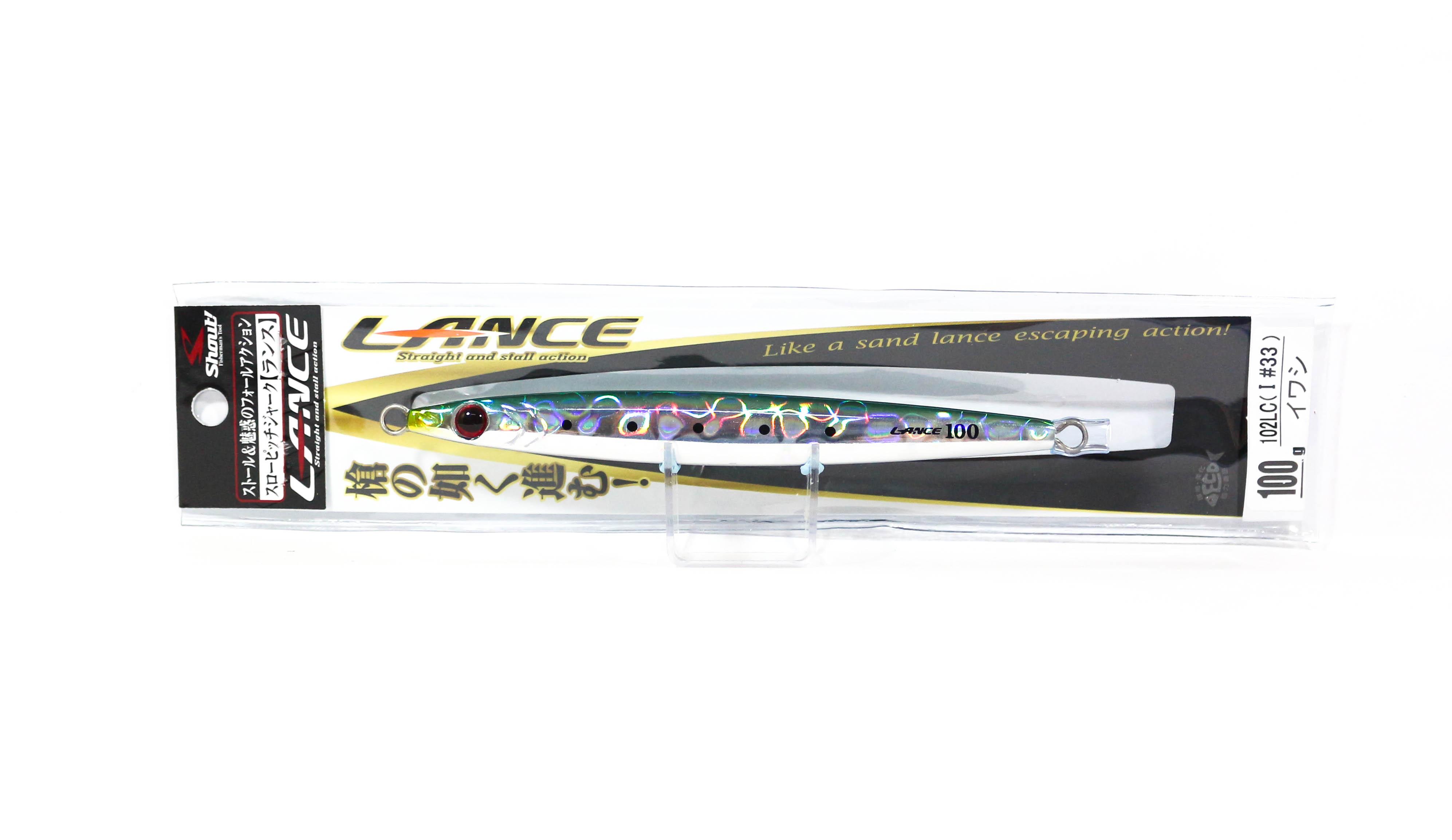 Shout 102-LC Metal Jig Lance Slow Fall Long 100 grams I (7857)