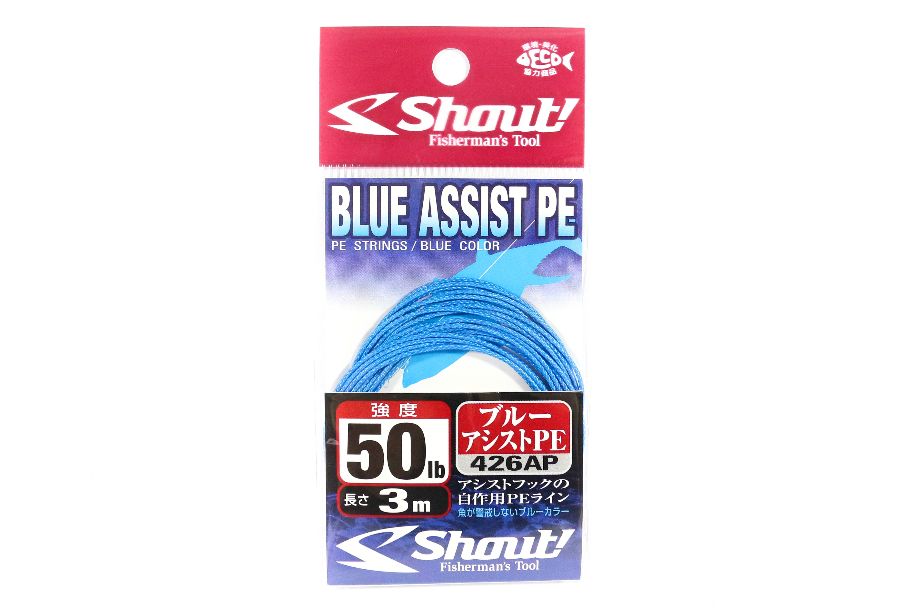 Shout 426-AP Blue Assist P.E Line Assist Rope Inner Core 3 meters 50LB (4633)