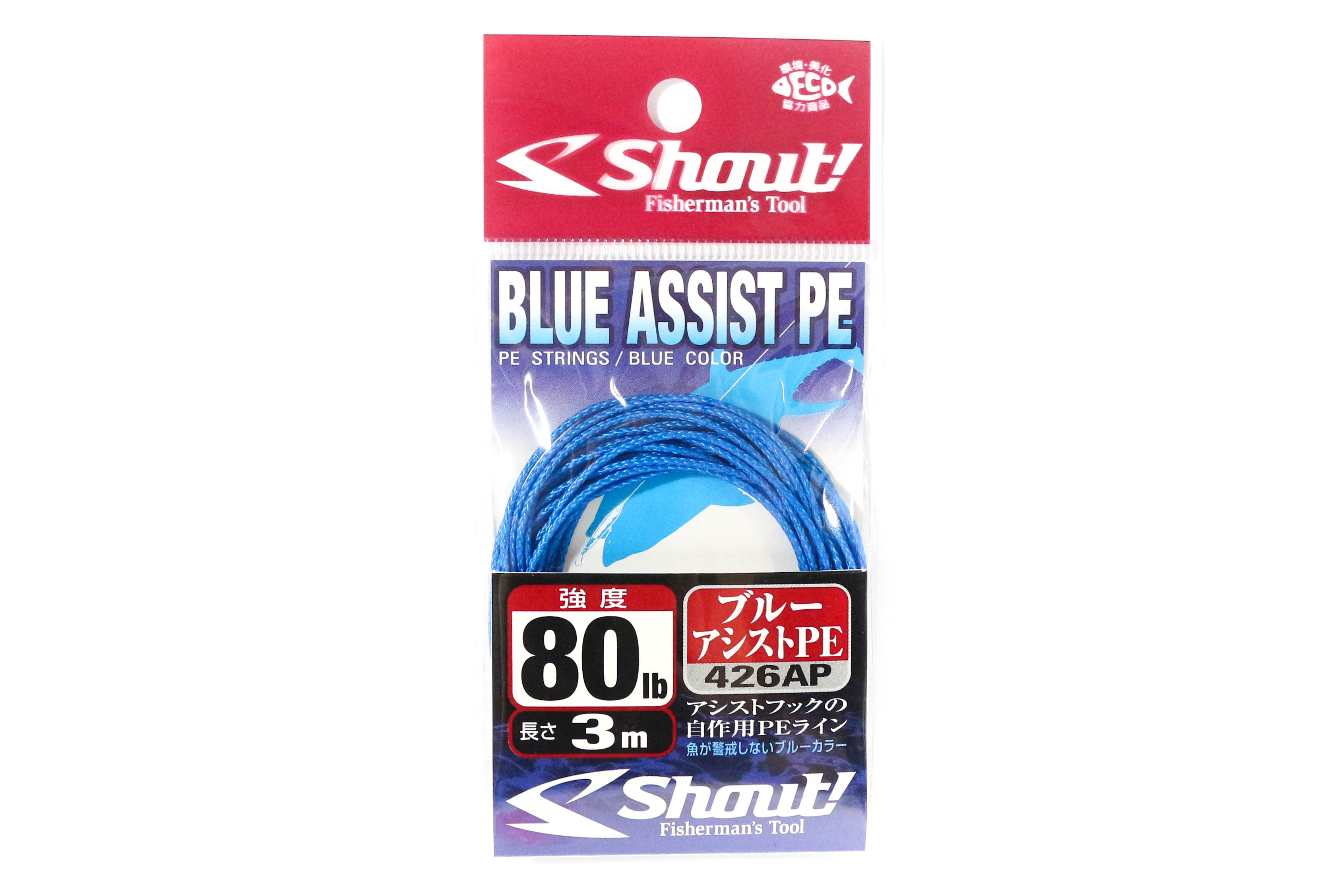 Shout 426-AP Blue Assist P.E Line Assist Rope Inner Core 3 meters 80LB (4640)