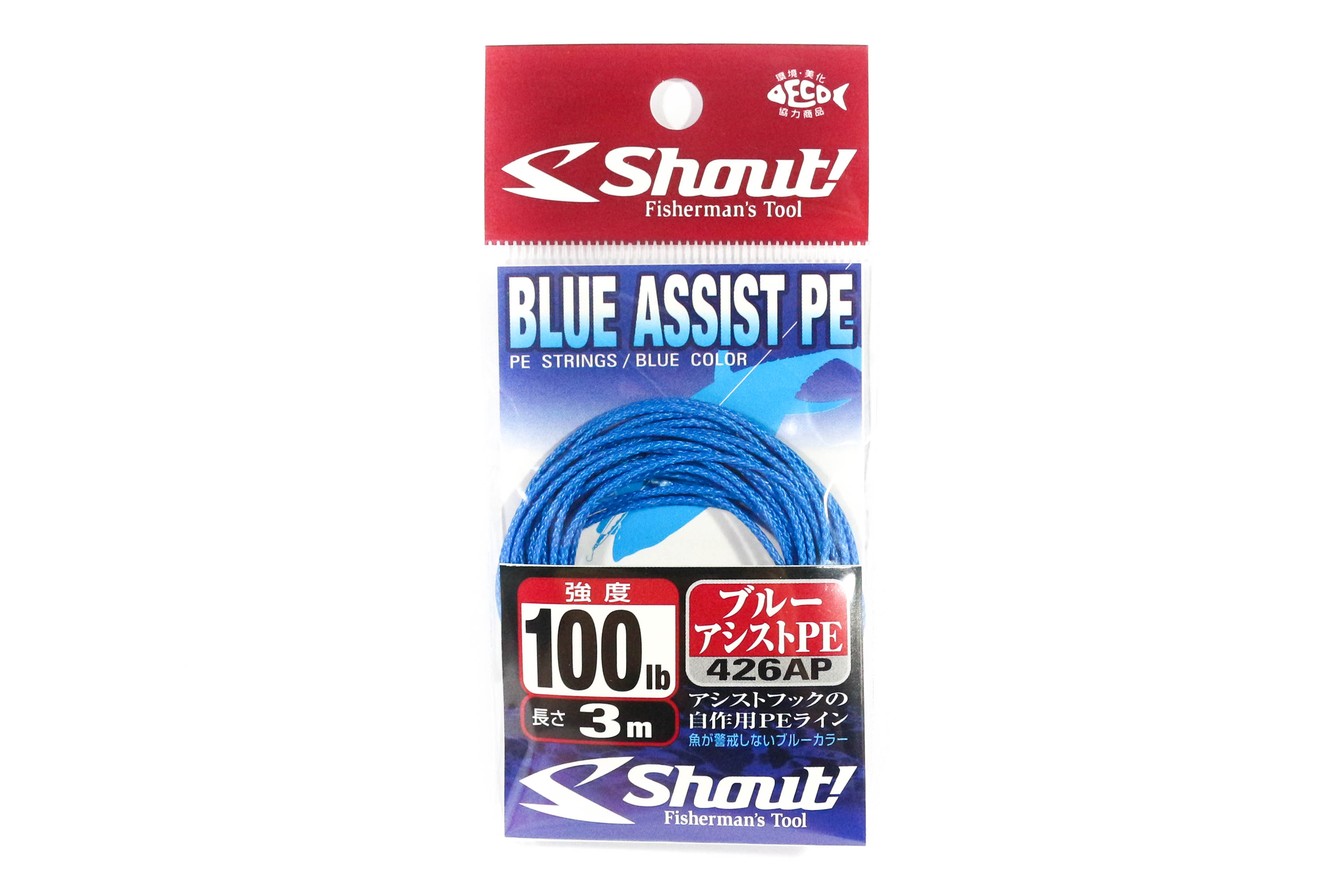 Shout 426-AP Blue Assist P.E Line Assist Rope Inner Core 3 meters 100LB (4657)