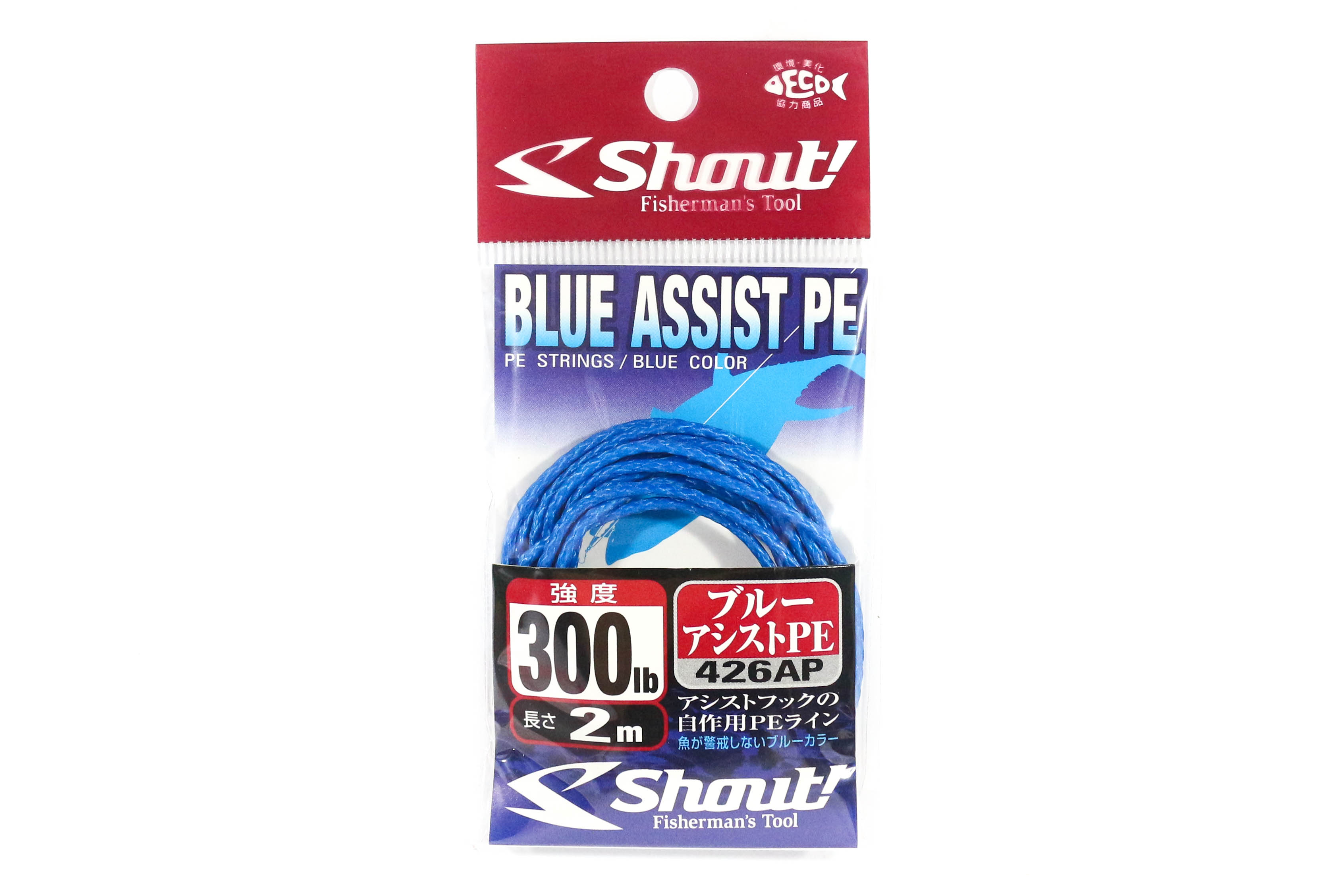 Shout 426-AP Blue Assist P.E Line Assist Rope Inner Core 2 meters 300LB (4695)