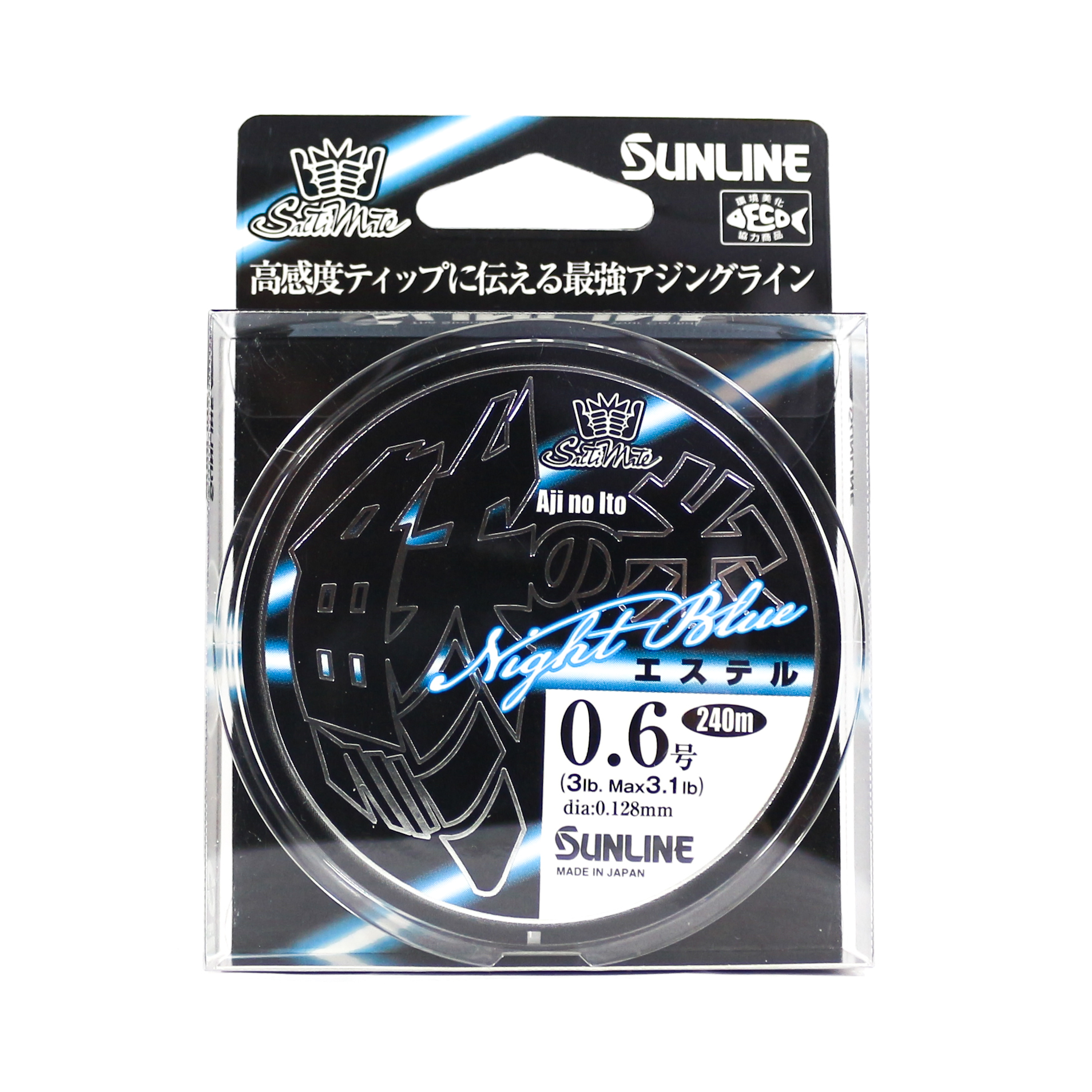 Sunline Ester Line Aji No Ito 240M 3 LB Night Blue (8416)