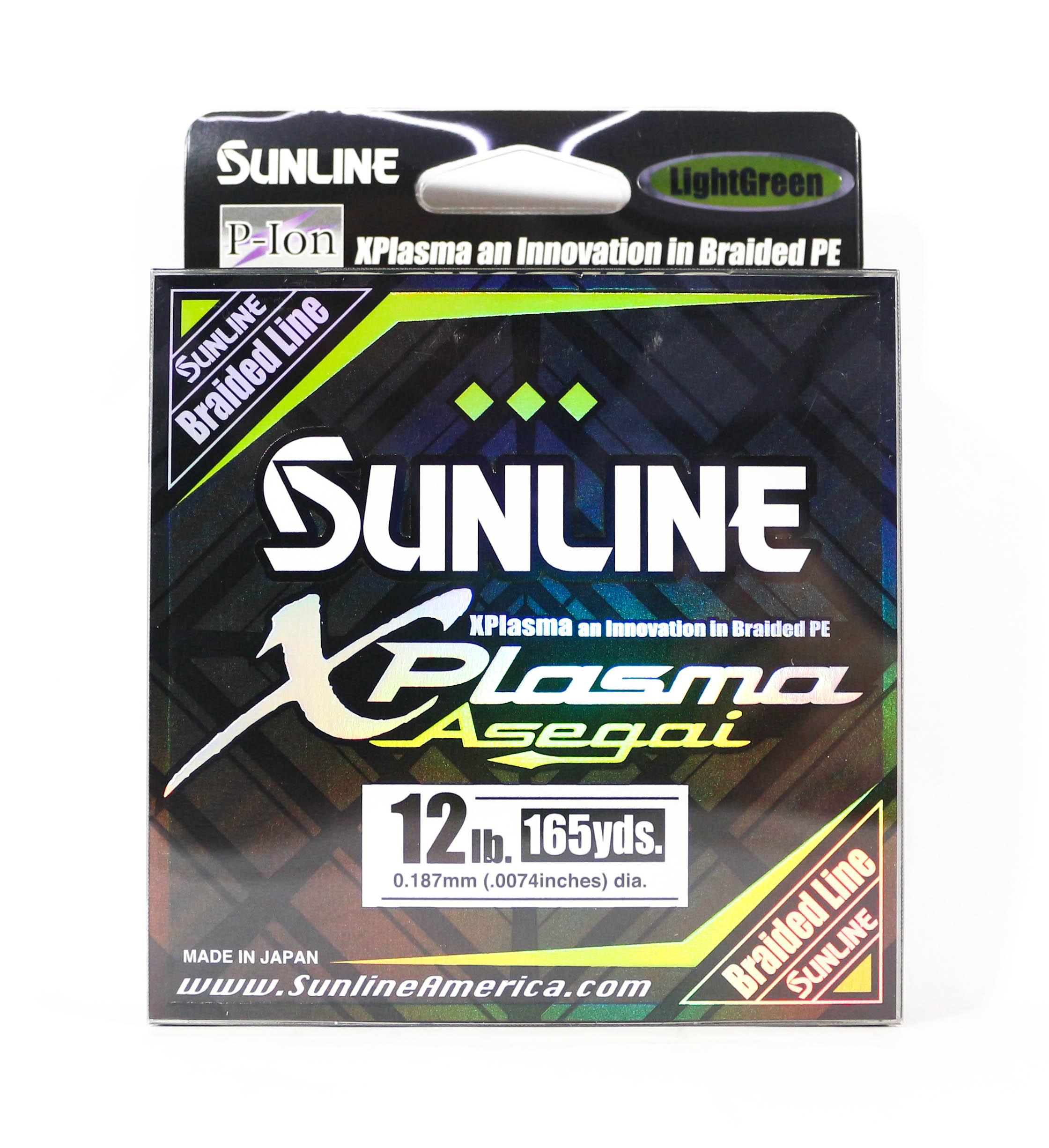 Sunline Asegai Xplasma Braided Line 165yds P.E 1.2 12lb Light Green (5011)