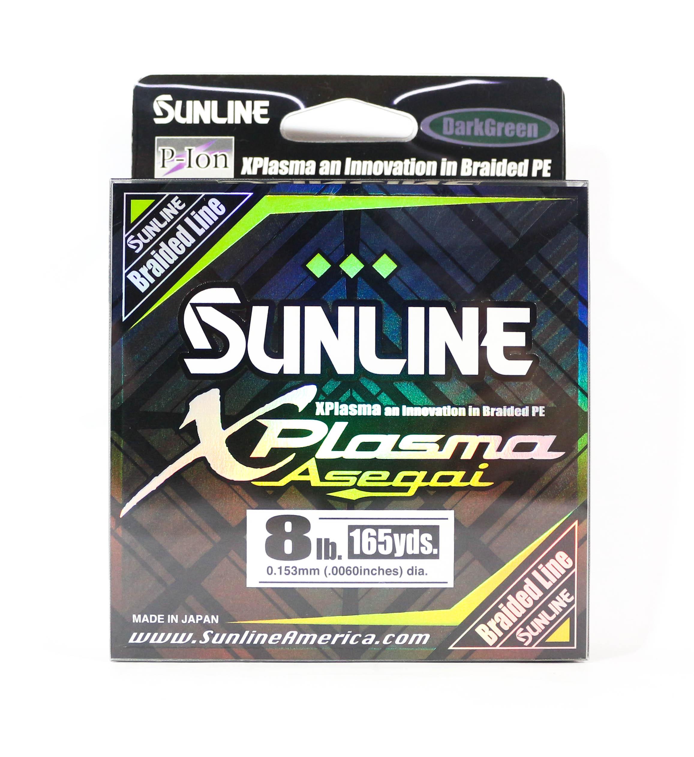 Sunline Asegai Xplasma Braided Line 165yds P.E 0.8 8lb Dark Green (5097)