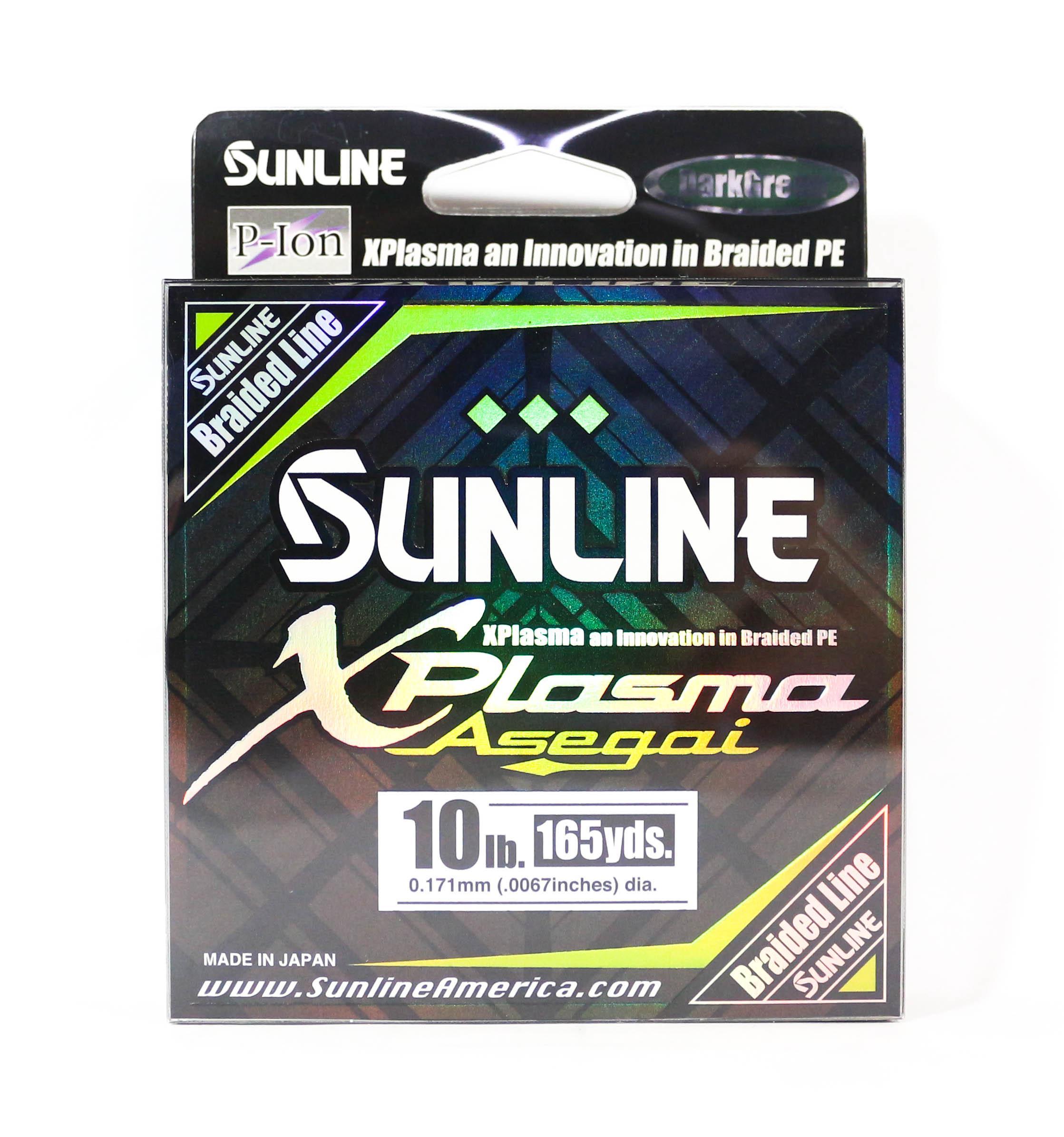 Sunline Asegai Xplasma Braided Line 165yds P.E 1 10lb Dark Green (5103)