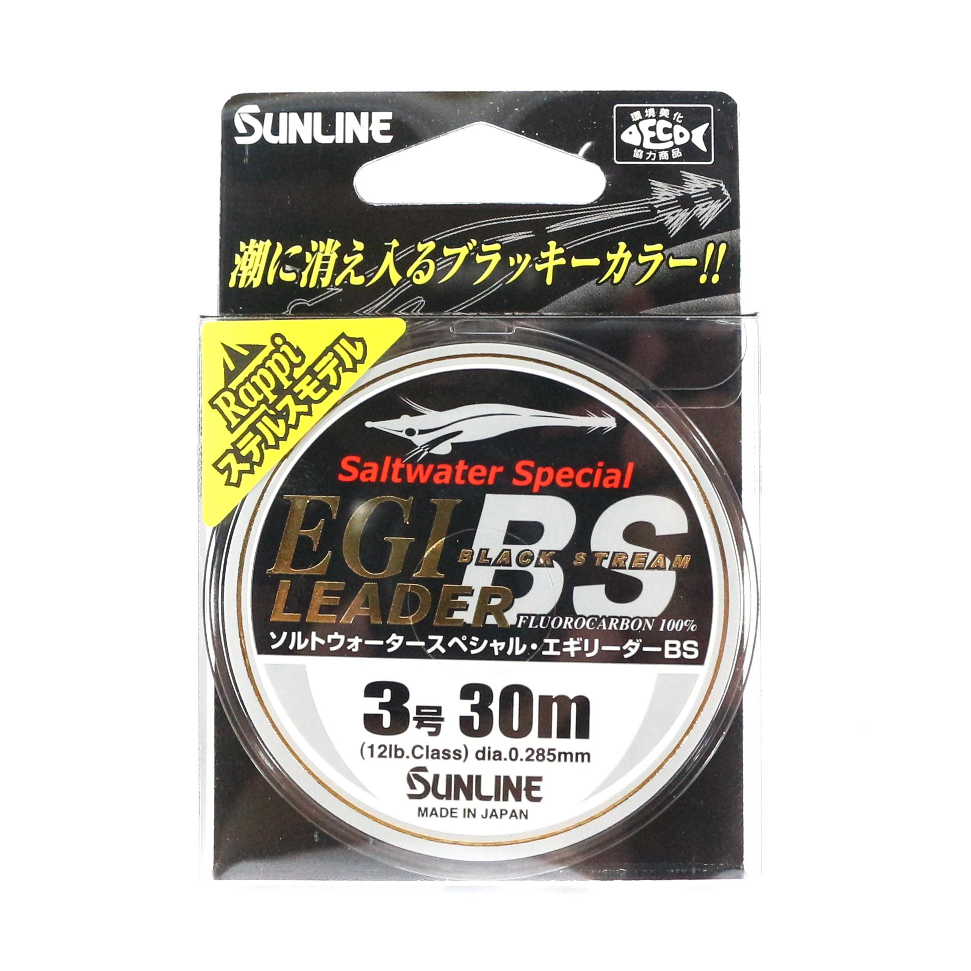 Sunline Fluorocarbon Egi Leader Black Stream 30m #3 12lb (4534)