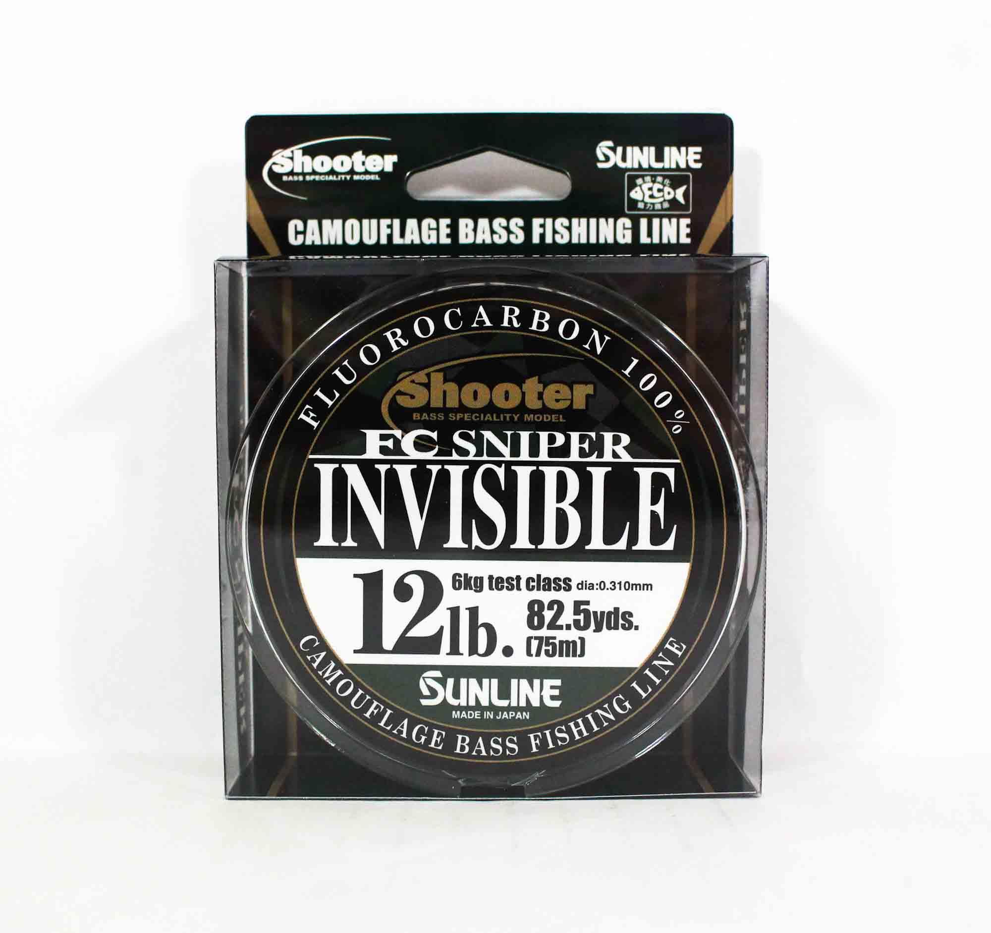 Sunline Fluorocarbon Line FC Sniper Invisible 75m 12lb 0.31mm (2216)