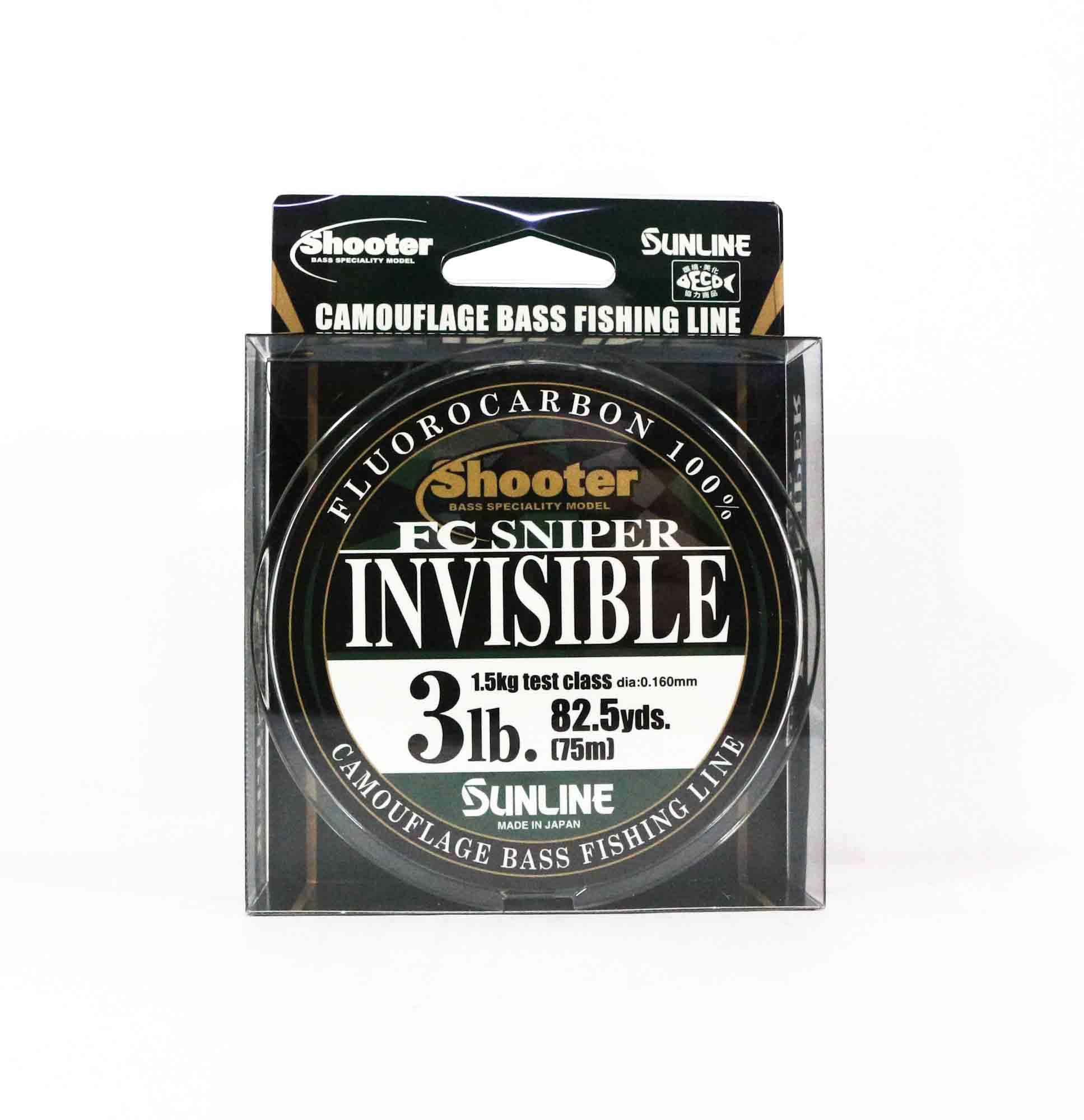 Sunline Fluorocarbon Line FC Sniper Invisible 75m 3lb 0.16mm (2124)