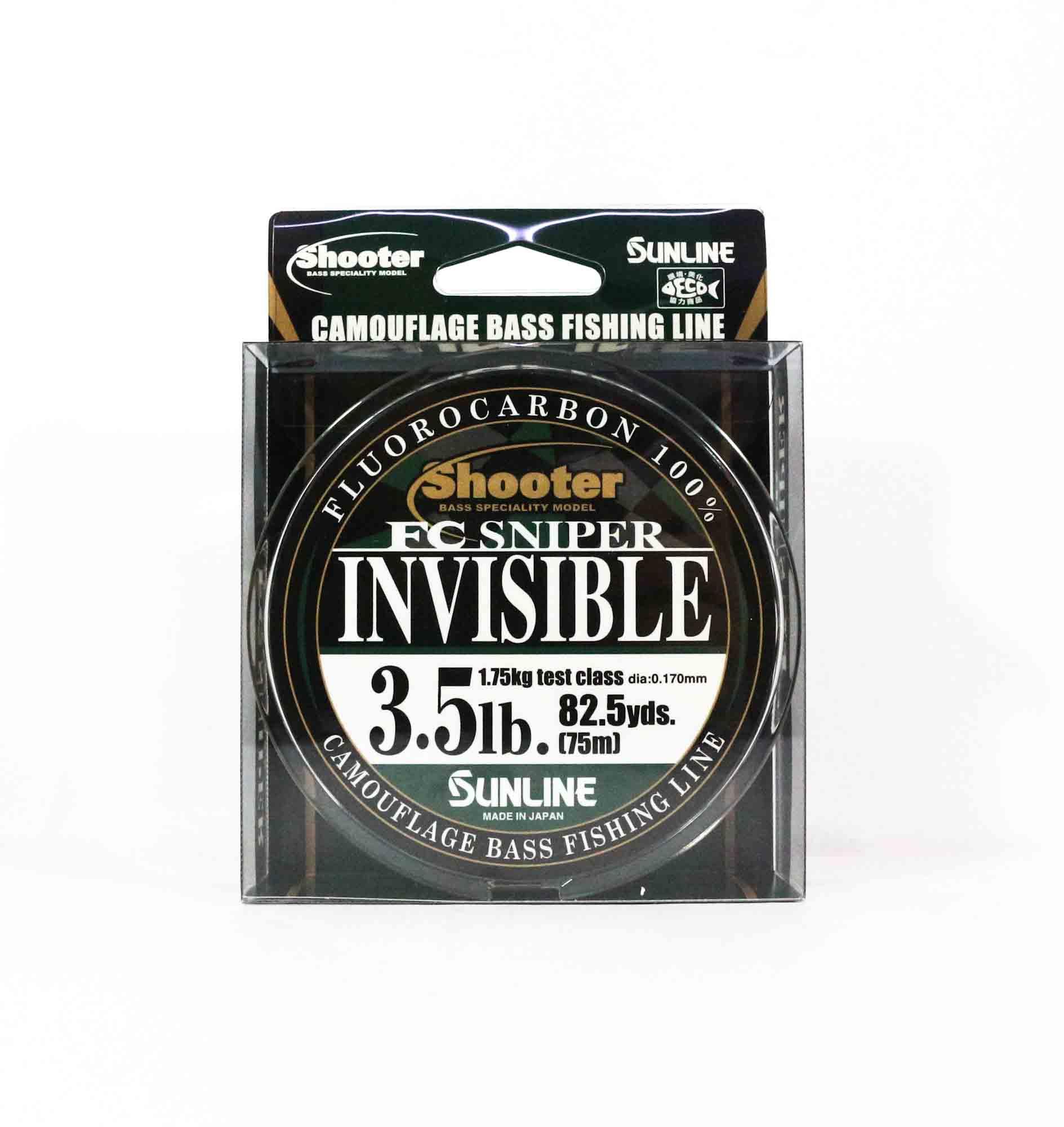 Sunline Fluorocarbon Line FC Sniper Invisible 75m 3.5lb 0.17mm (2131)