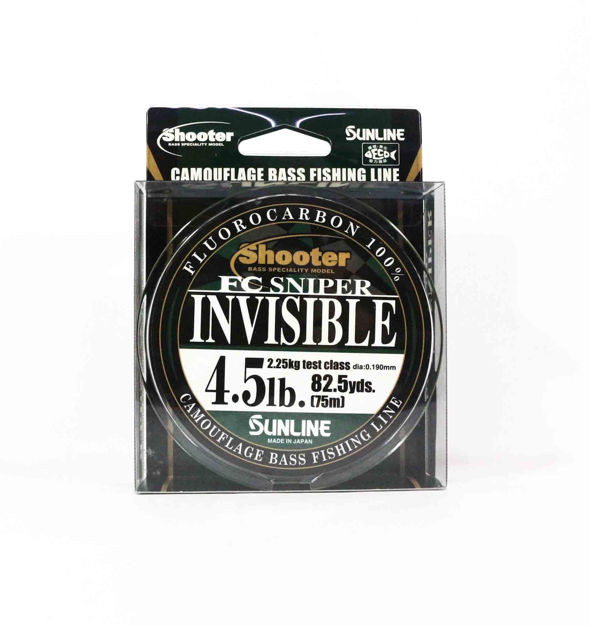 Sunline Fluorocarbon Line FC Sniper Invisible 75m 4.5lb 0.19mm (2155)