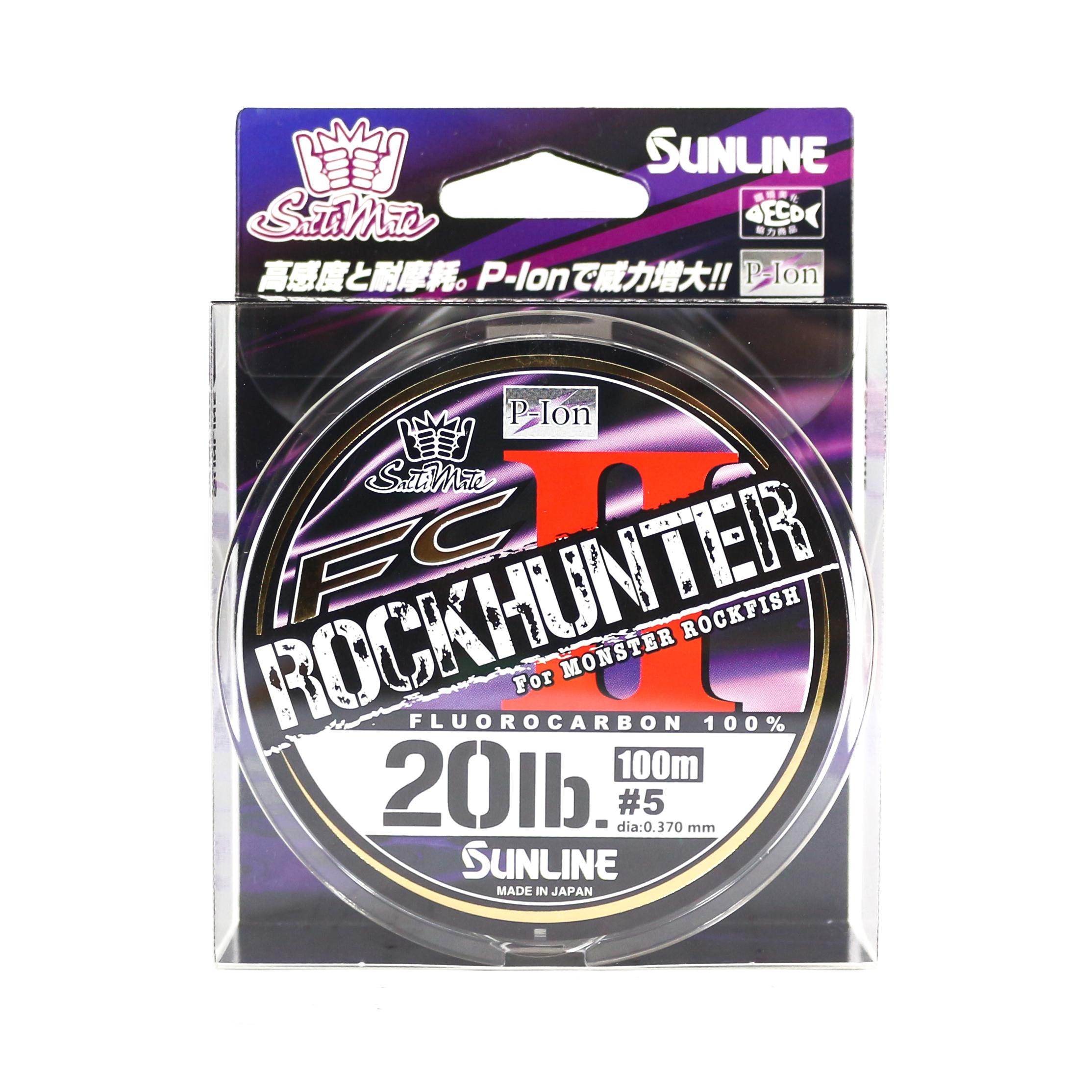Sunline Fluorocarbon Line Rock Hunter II 100m 20lb , 0.37mm (9130)