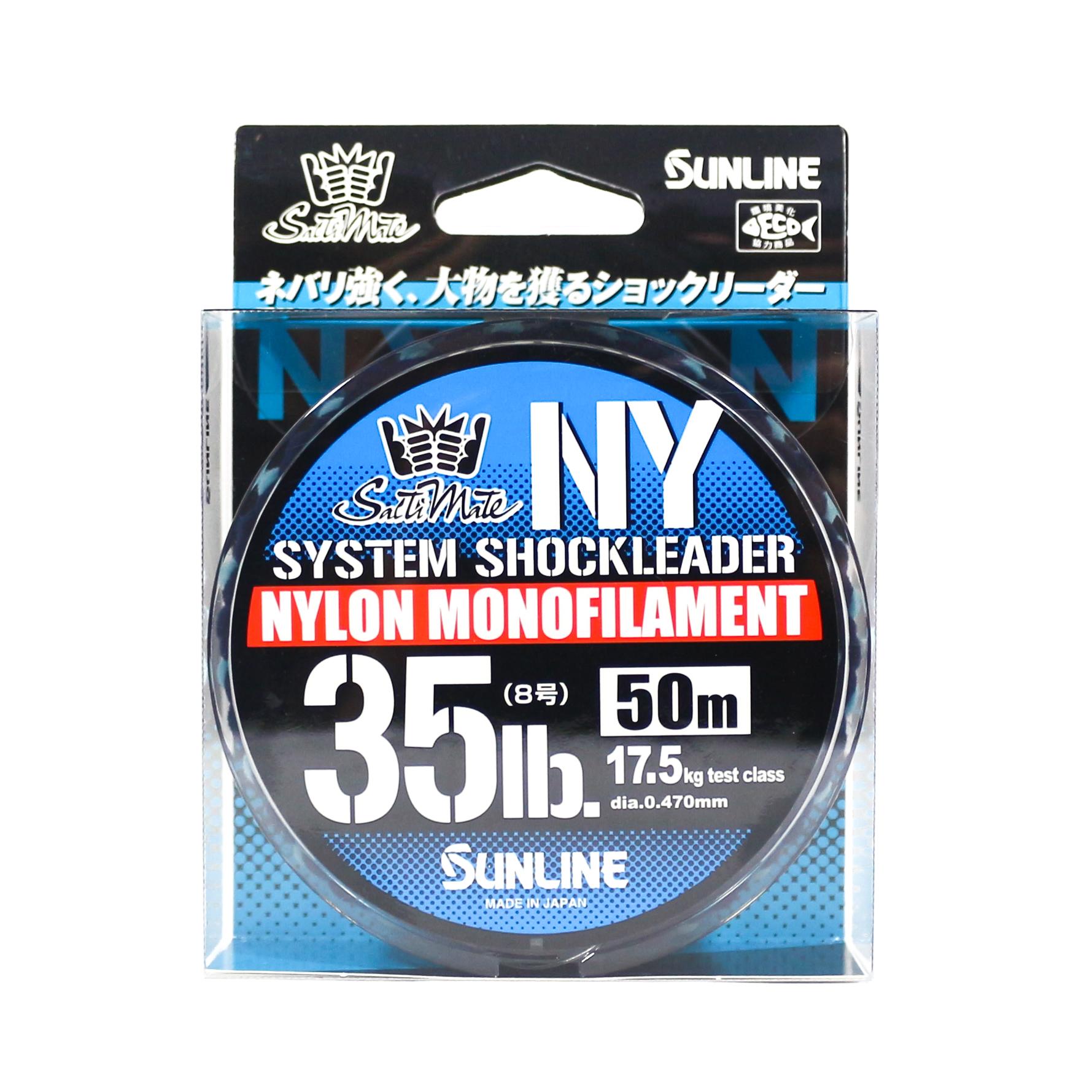 Sunline NY System Shock Leader Nylon 50m 35lb (9314)