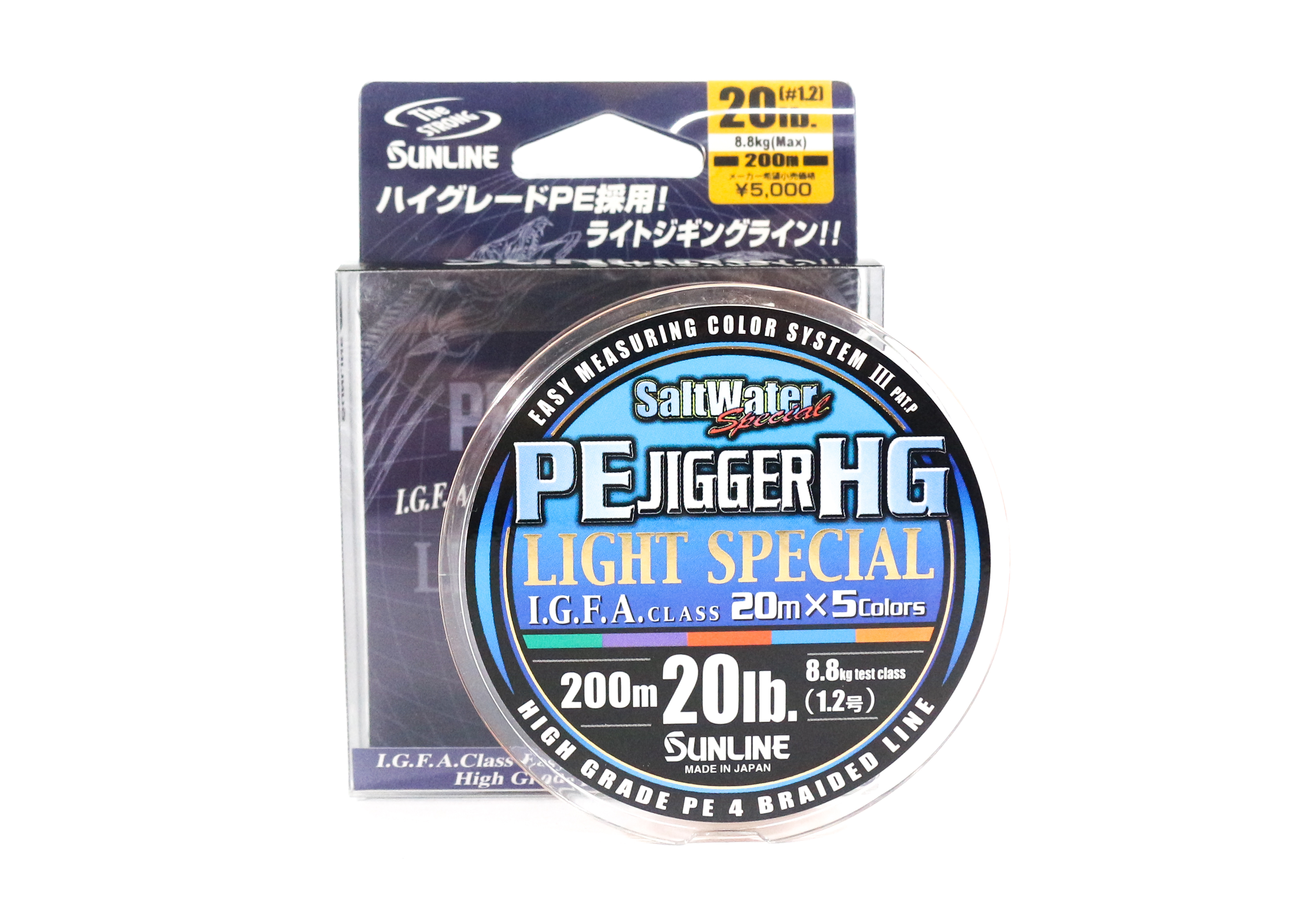 Sale Sunline P.E Line Jigger Light Special 200m P.E 1.2 20lb (8364)
