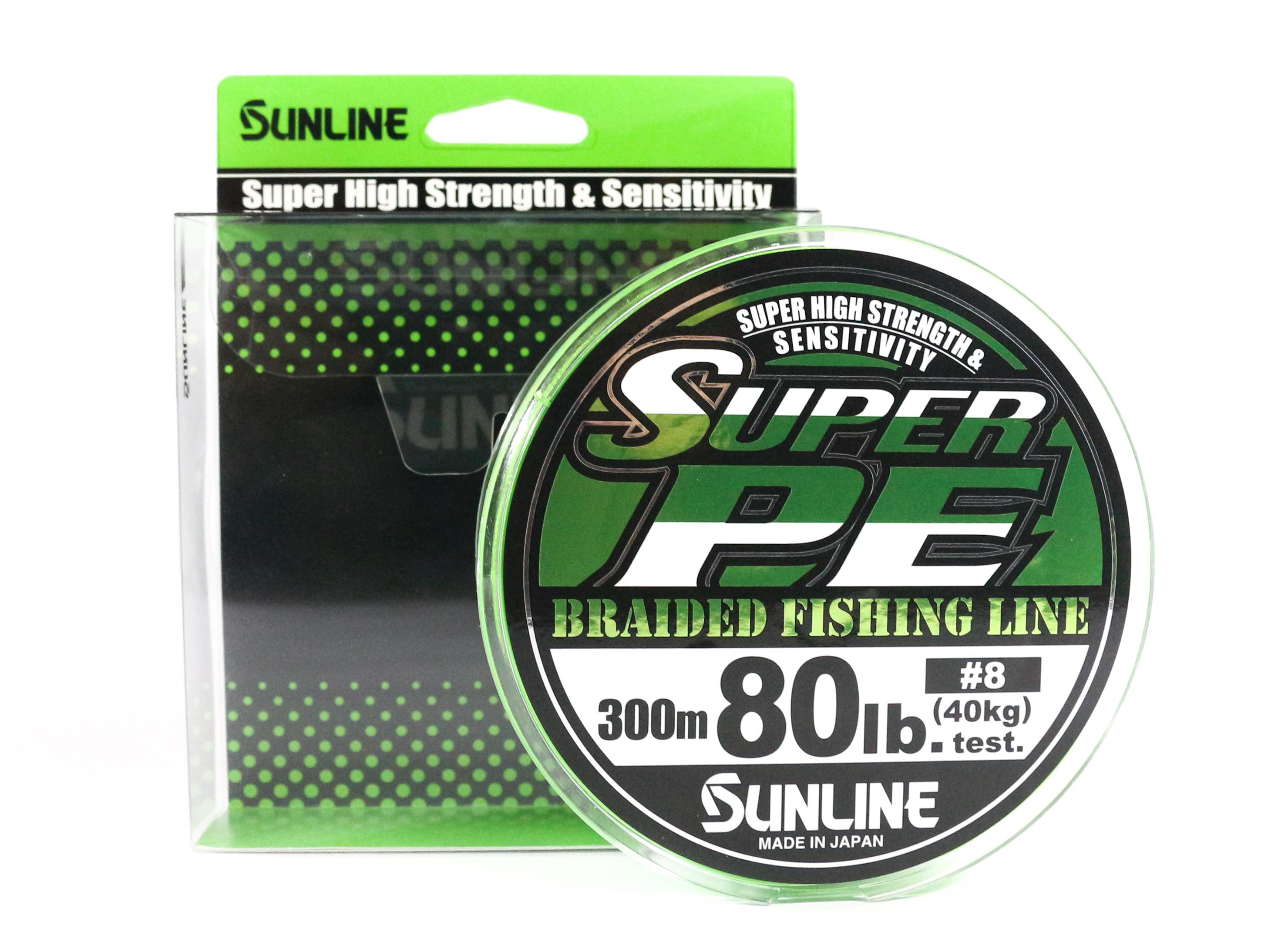 Sunline P.E Line Super PE Braid 300m Green P.E 8 80LB (9615)