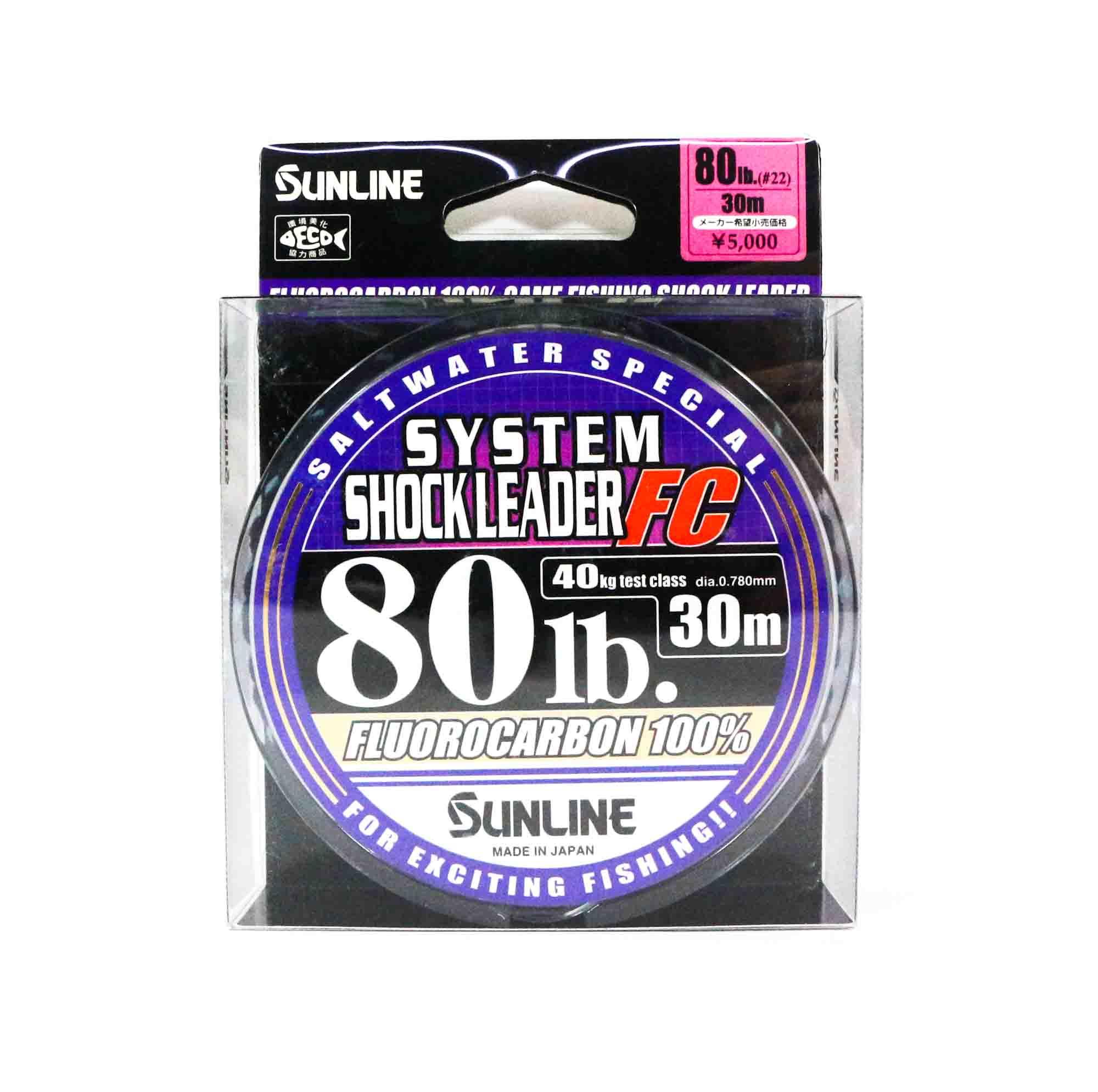 Sale Sunline Special System Shock Leader Fluorocarbon FC 30m 80lb (9308)