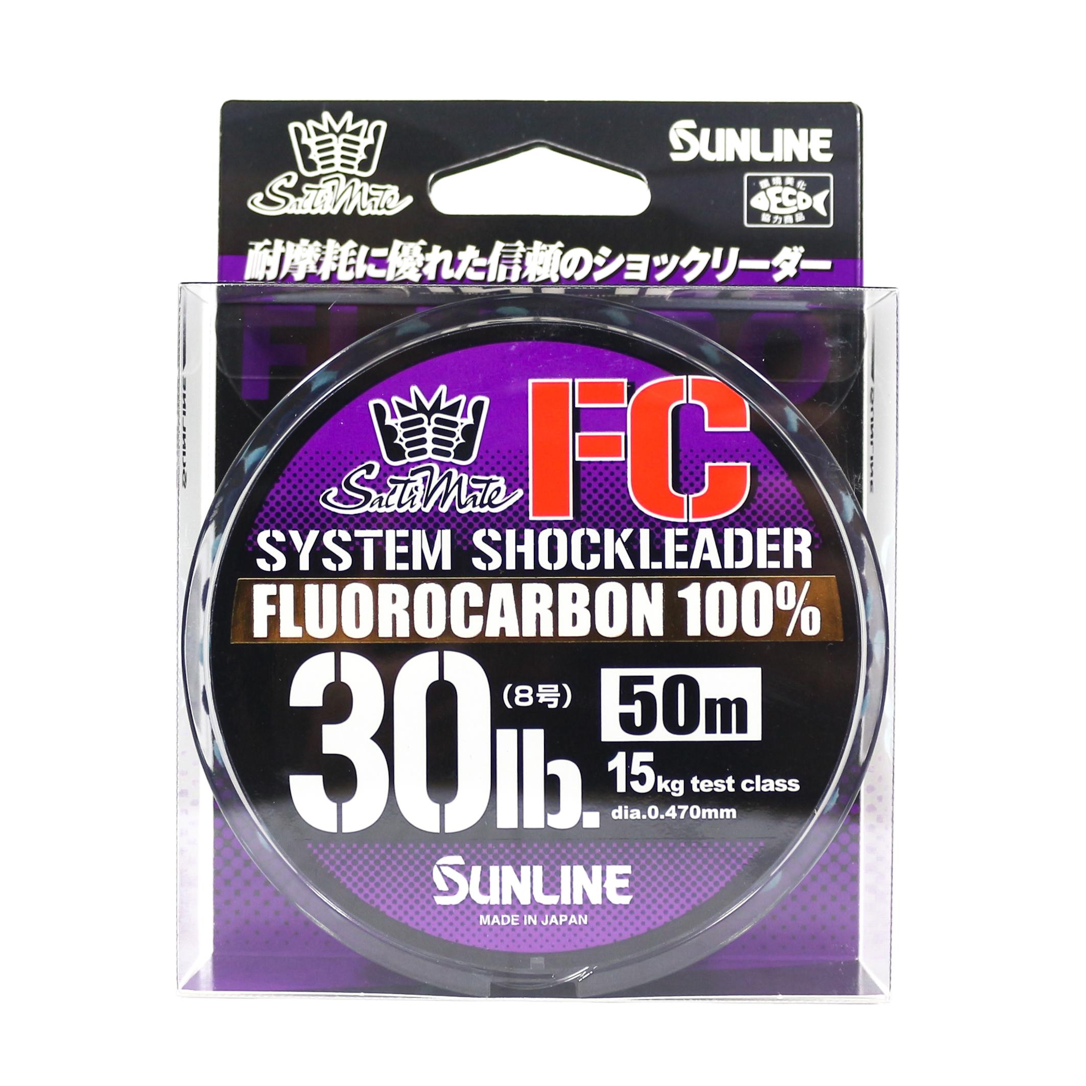 Sunline Saltwater System Shock Leader Fluorocarbon FC 50m 30lb (9185)