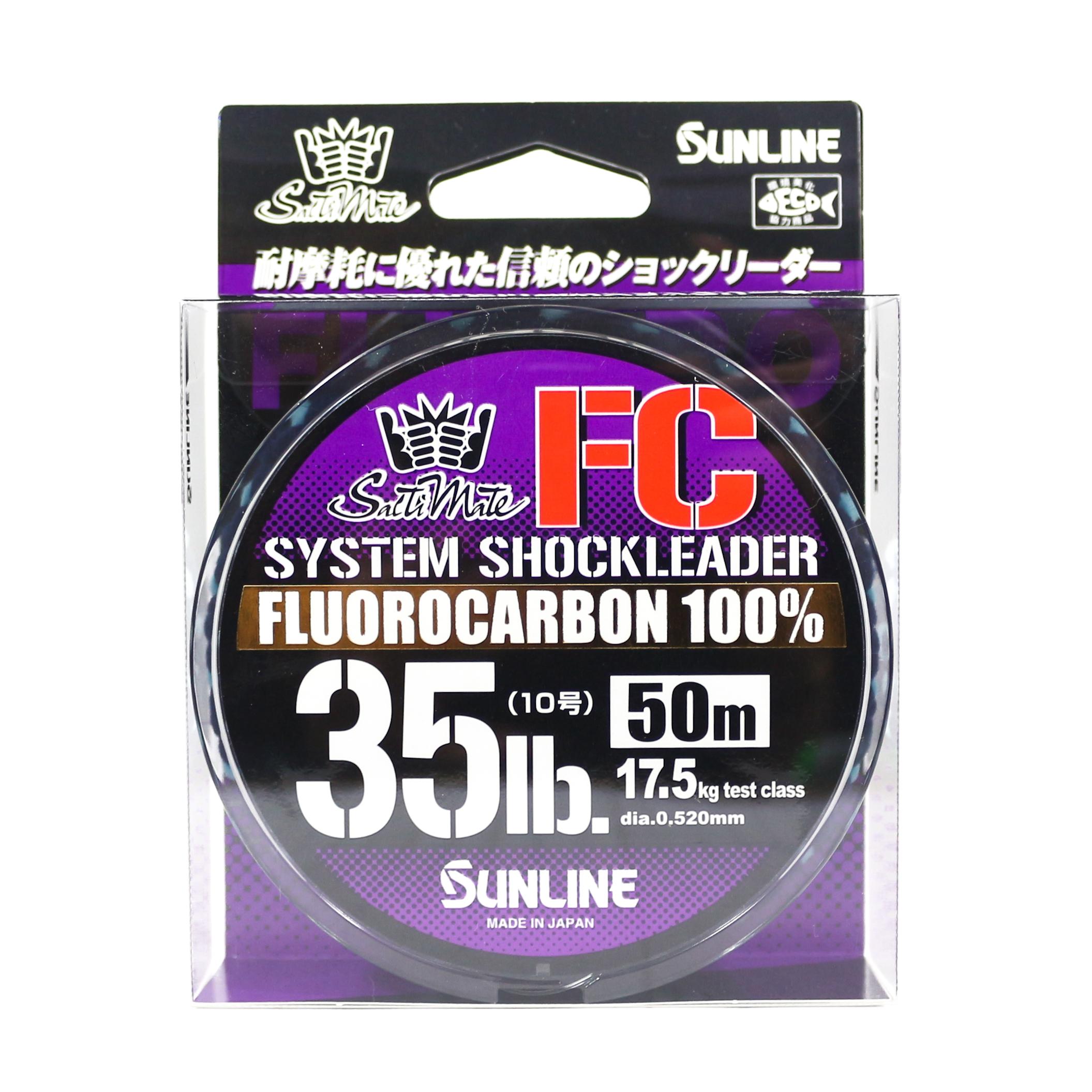 Sunline Saltwater System Shock Leader Fluorocarbon FC 50m 35lb (9192)