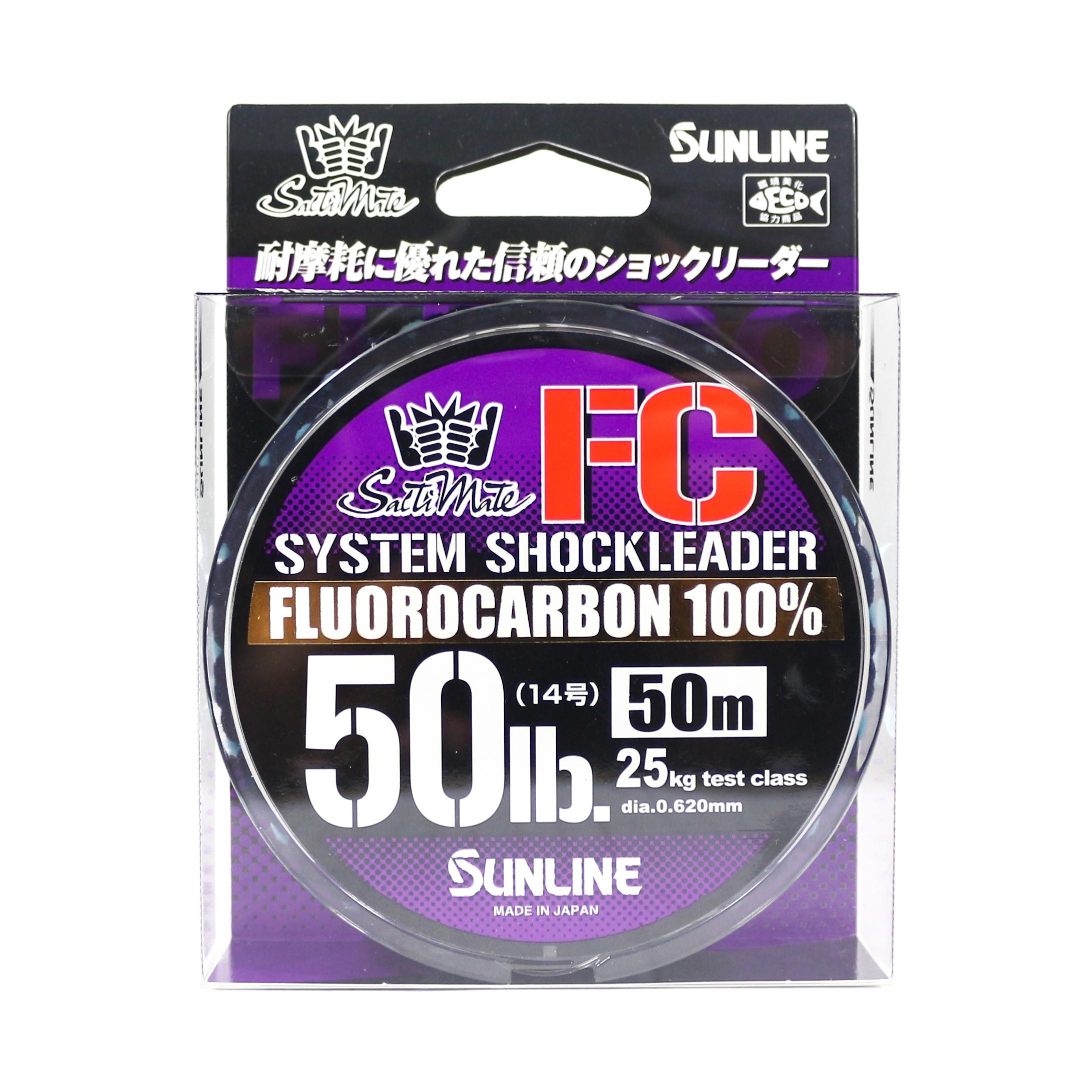 Sunline Saltwater System Shock Leader Fluorocarbon FC 50m 50lb (9215)