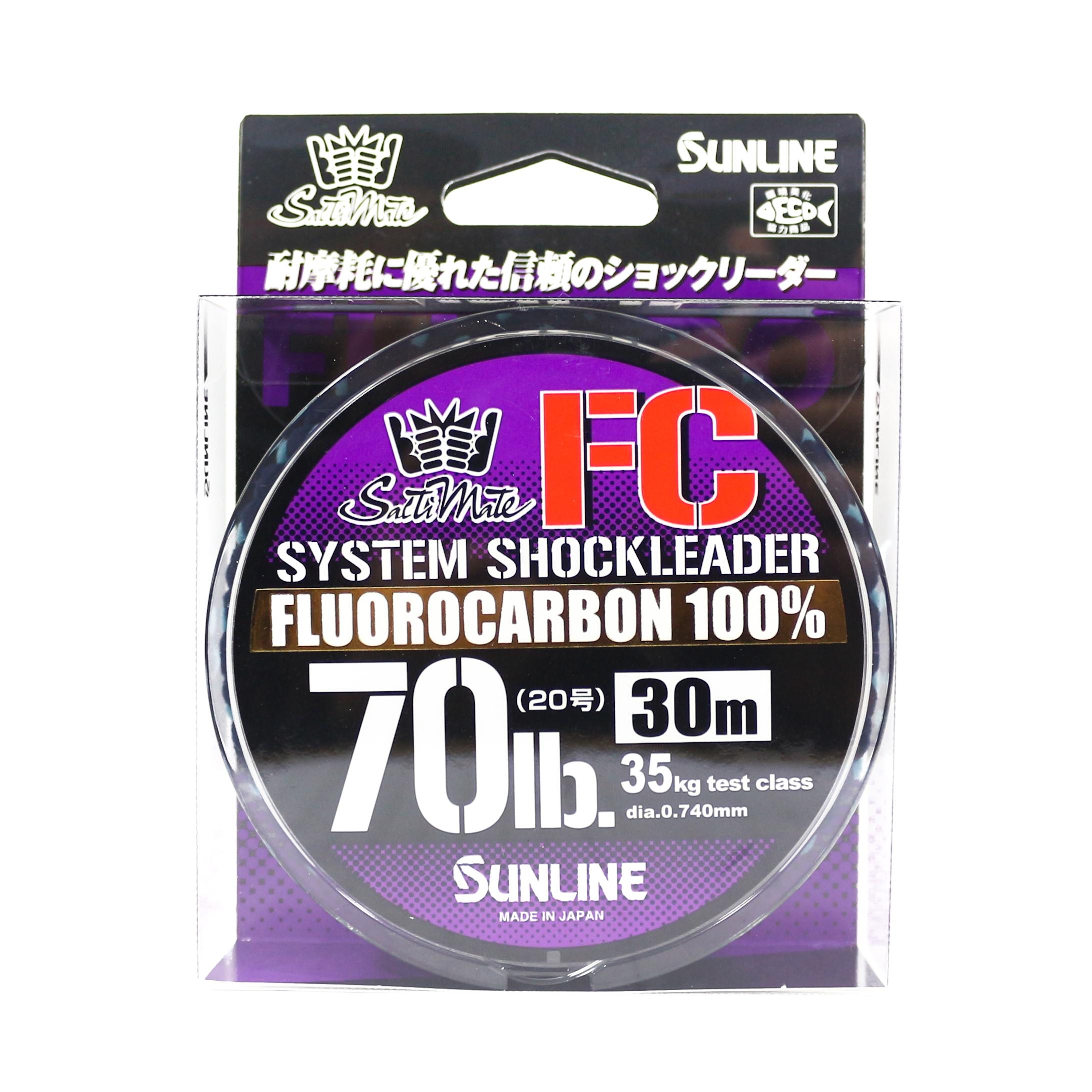 Sunline Saltwater System Shock Leader Fluorocarbon FC 30m 70lb (9239)