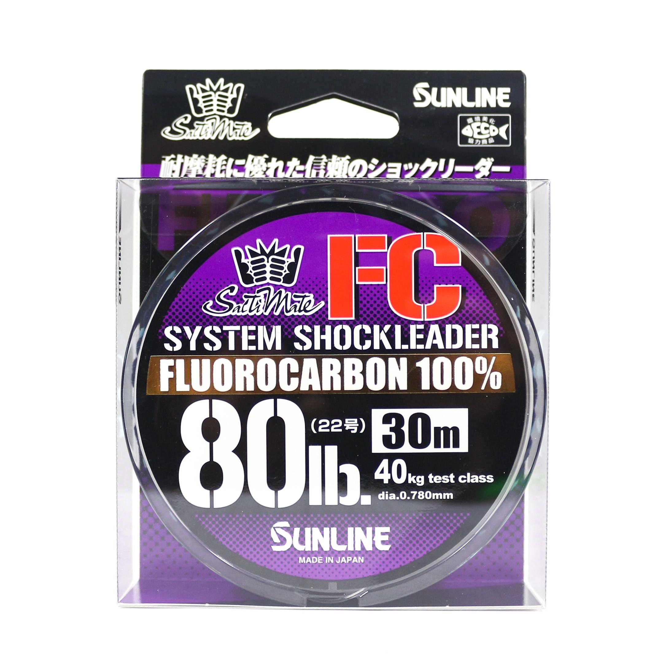 Sunline Saltwater System Shock Leader Fluorocarbon FC 30m 80lb (9246)