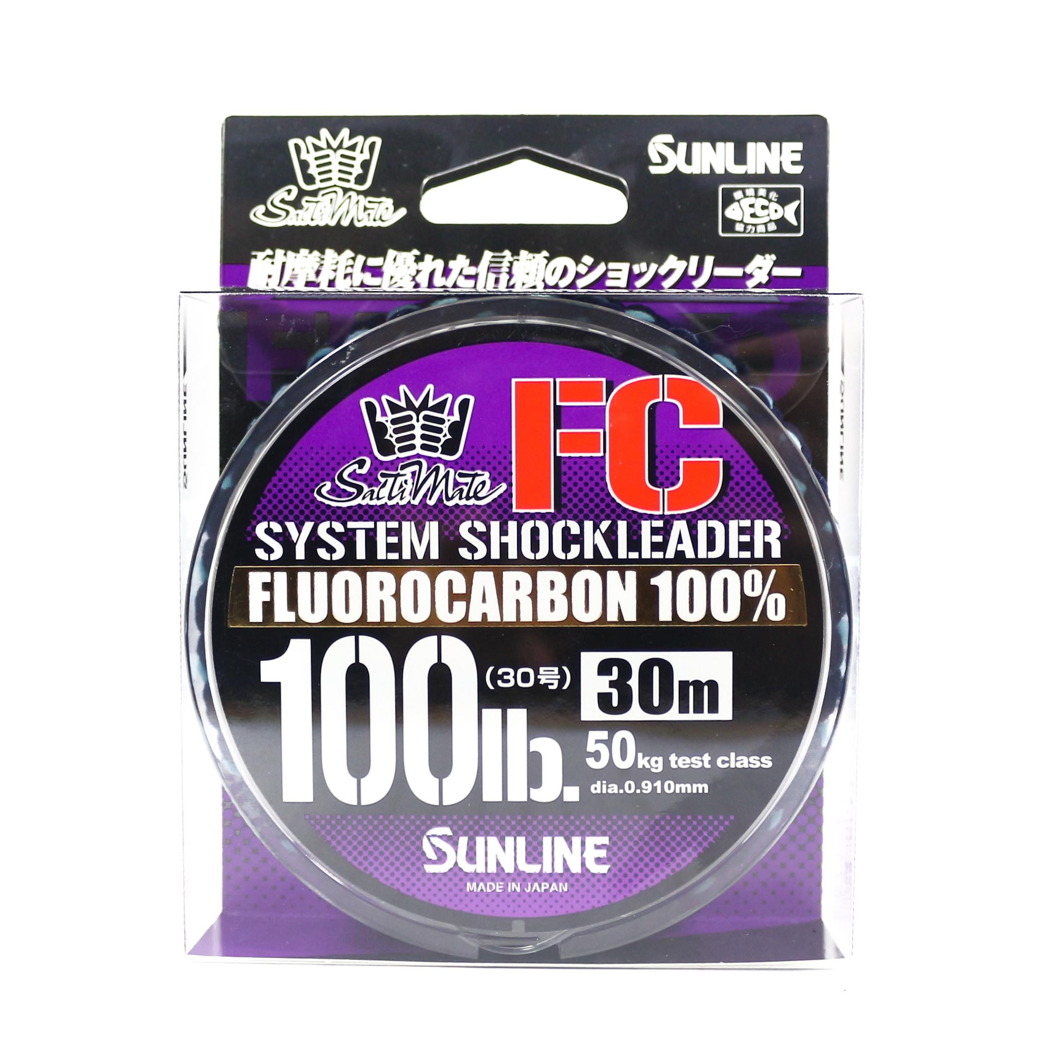 Sunline Saltwater System Shock Leader Fluorocarbon FC 30m 100lb (9253)