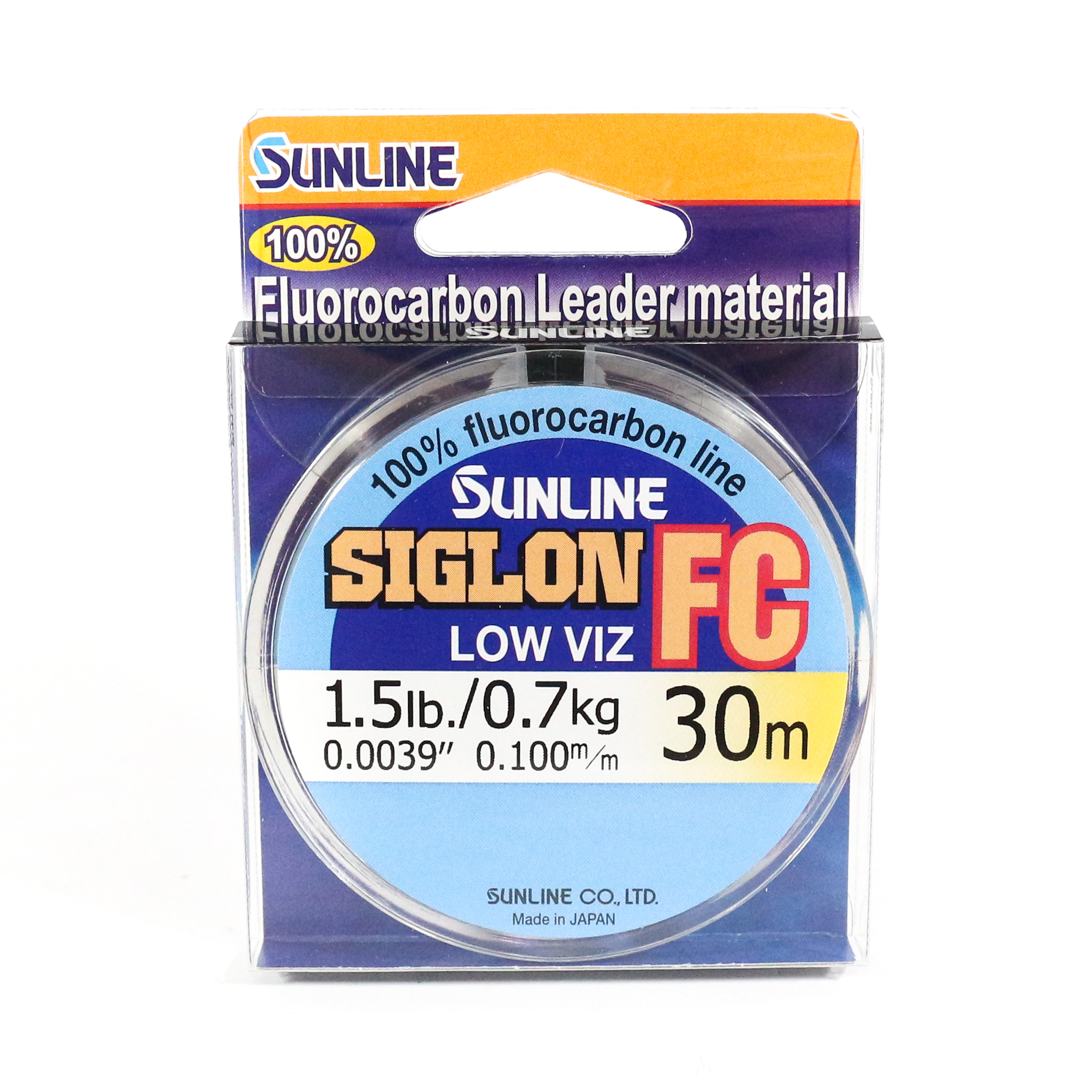 Sunline Siglon FC Fluorocarbon Line 30m 1.5lb Diameter 0.1 mm (5679)