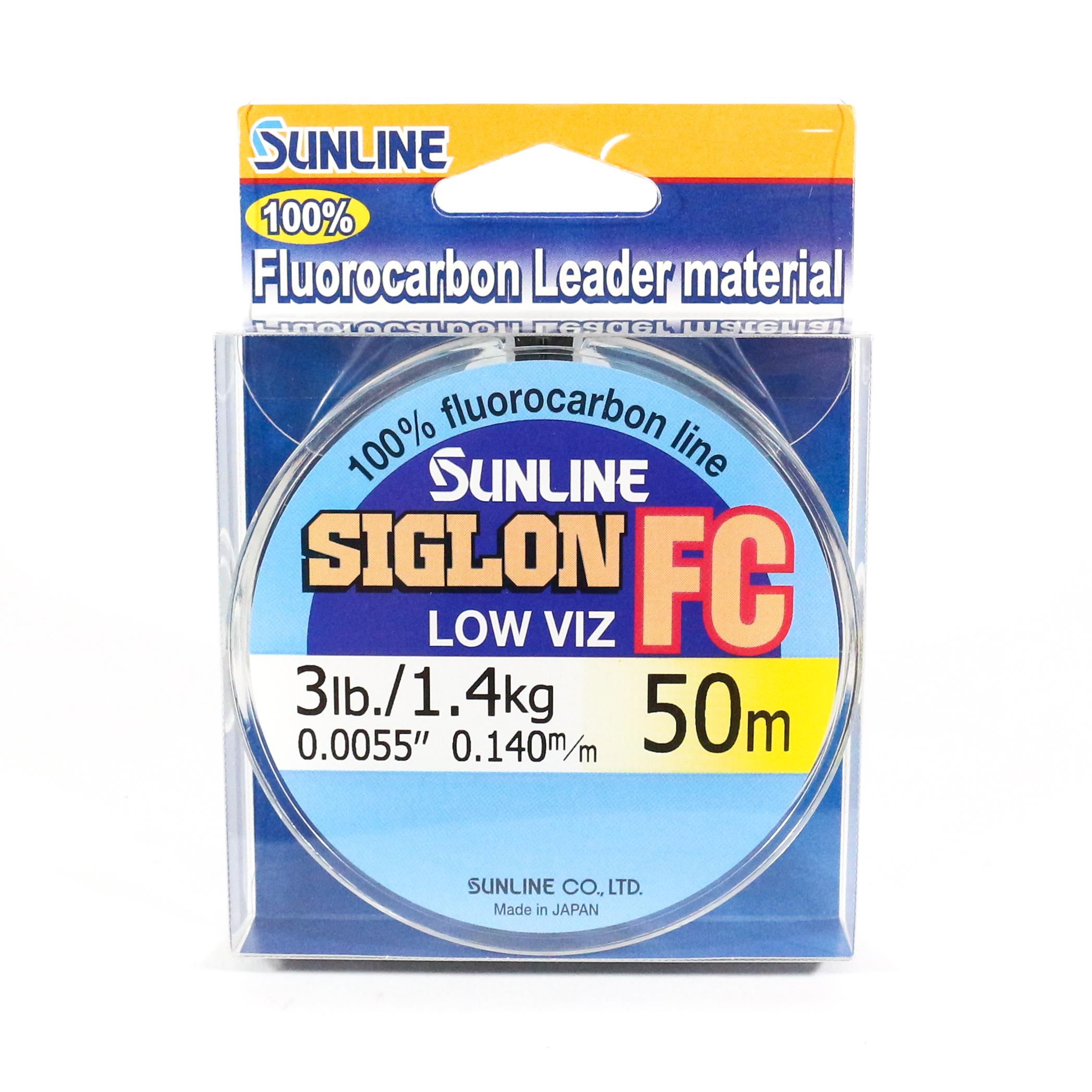 Sunline Siglon FC Fluorocarbon Line 50m 3lb Diameter 0.14 mm (5792)