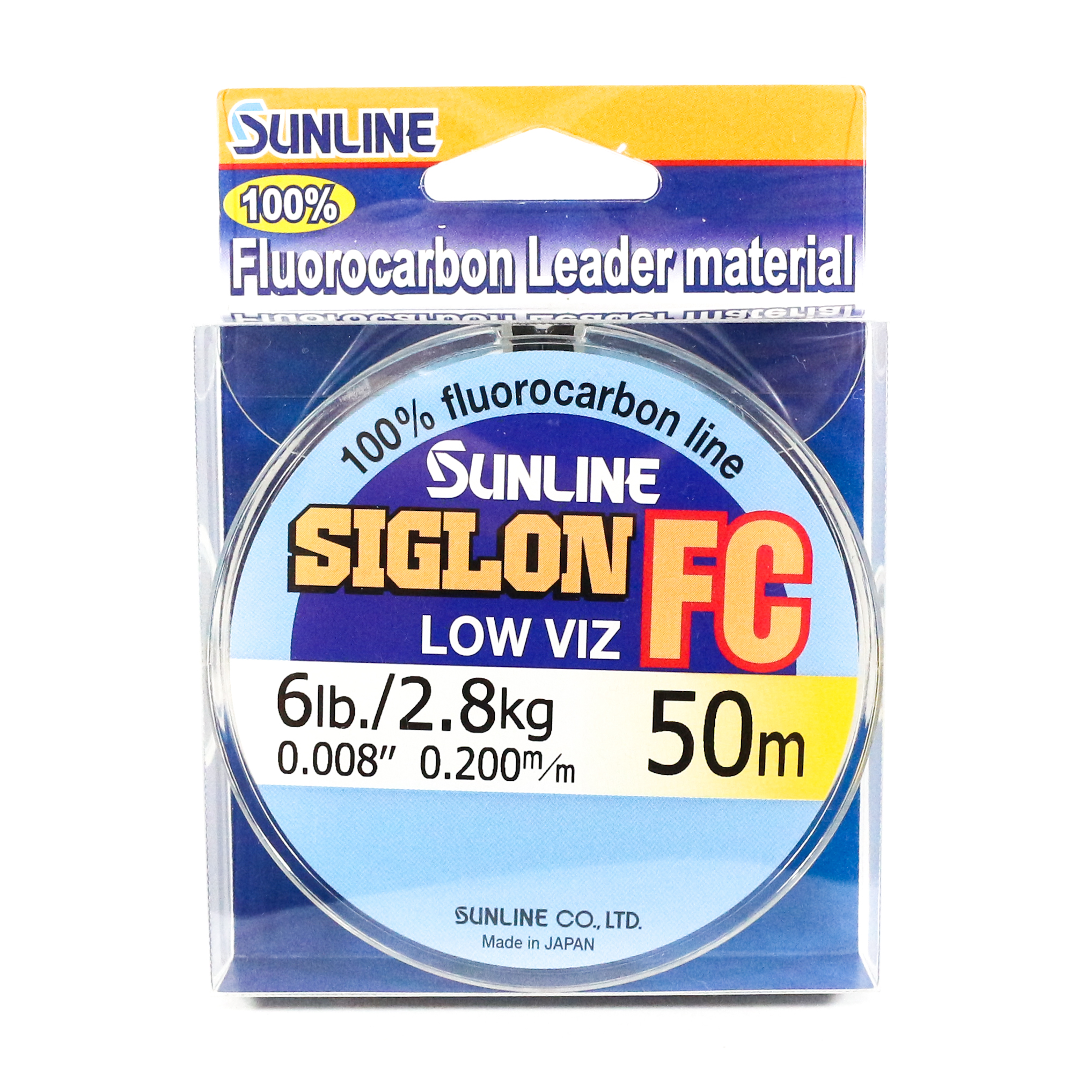 Sunline Siglon FC Fluorocarbon Line 50m 6lb Diameter 0.2 mm (5822)