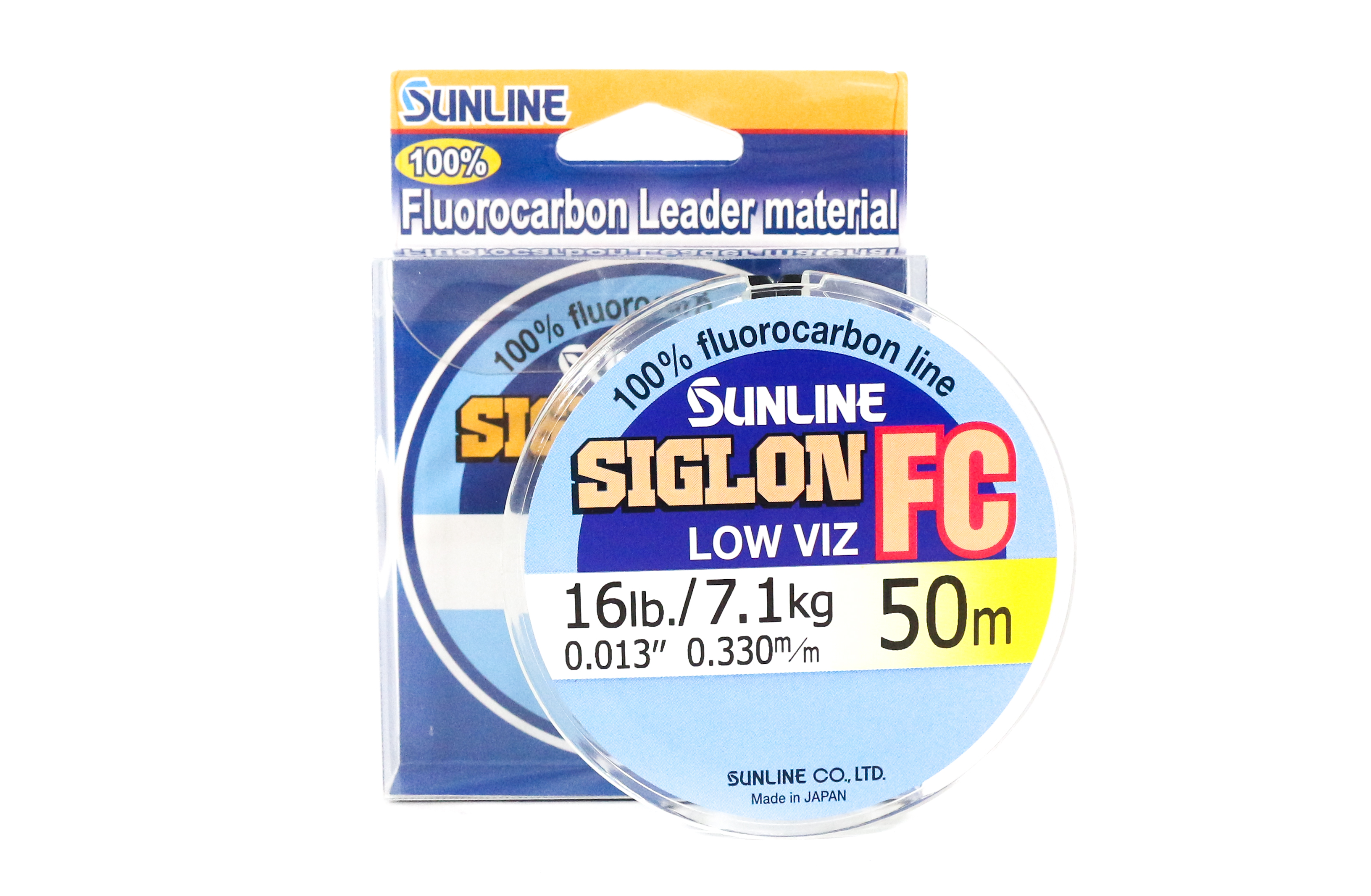 Sunline Siglon FC Fluorocarbon Line 50m 16lb Diameter 0.33 mm (5884)