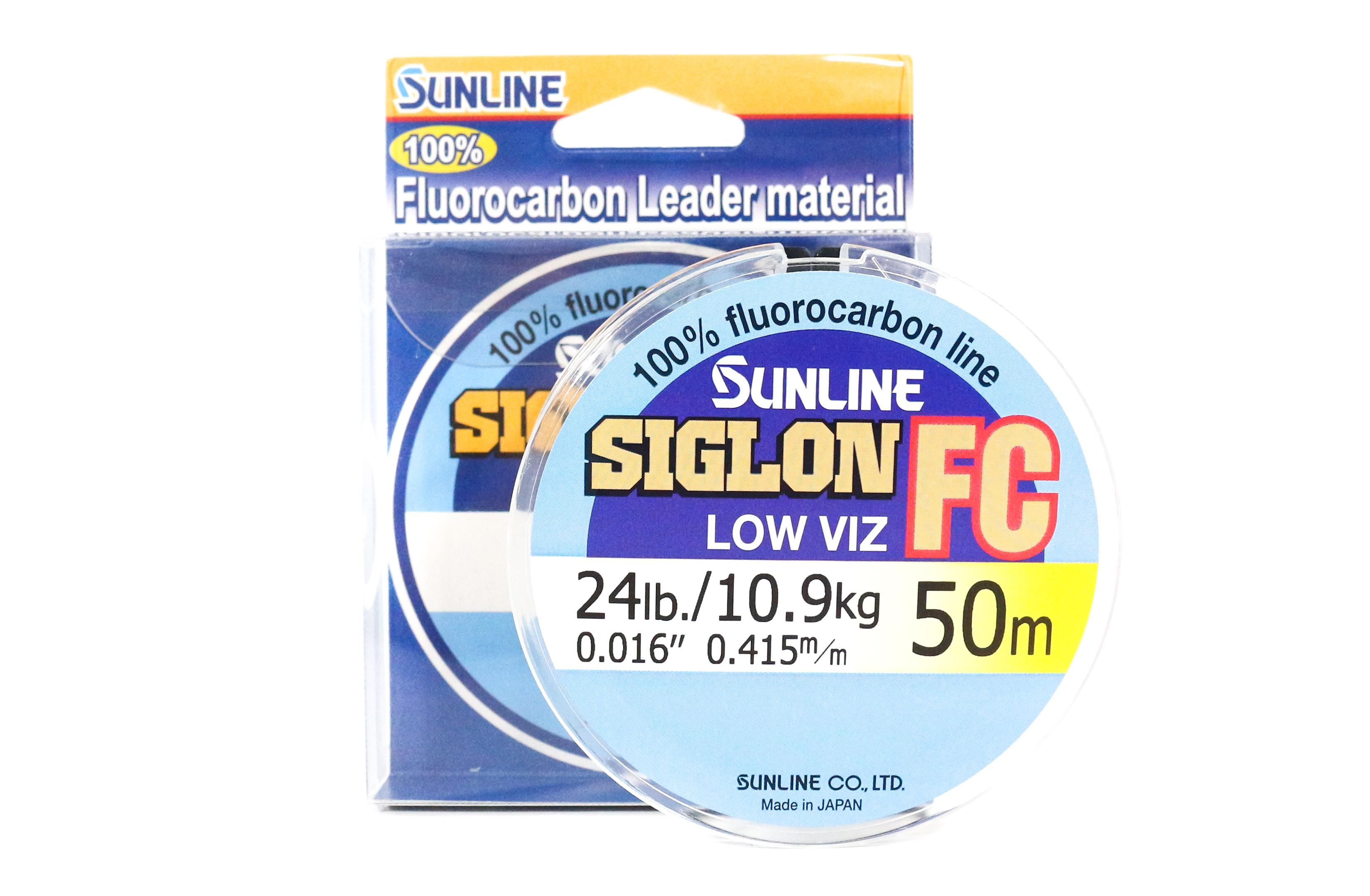 Sunline Siglon FC Fluorocarbon Line 50m 24lb Diameter 0.415 mm (5914)