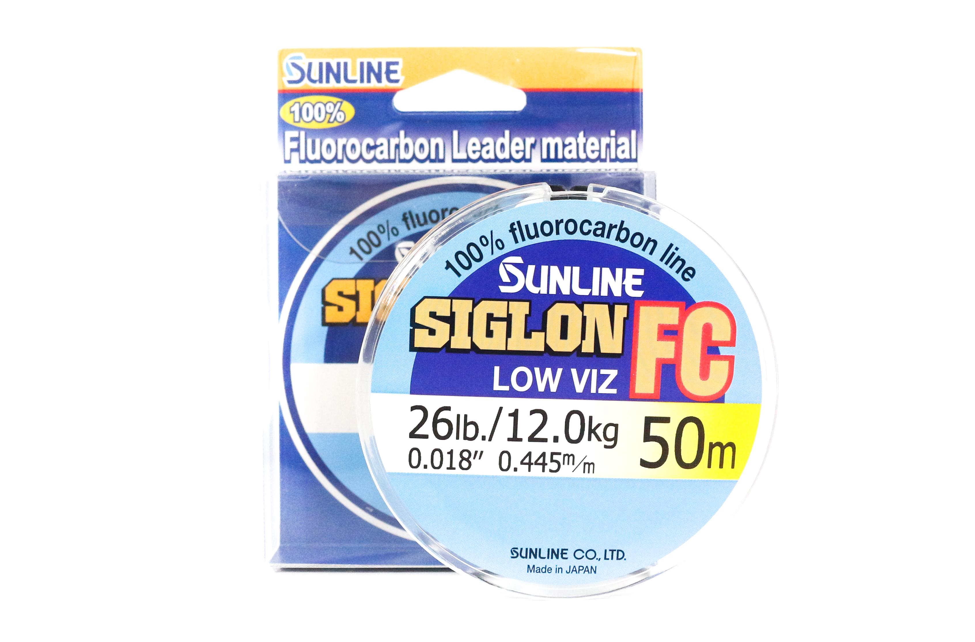 Sunline Siglon FC Fluorocarbon Line 50m 26lb Diameter 0.445 mm (5921)