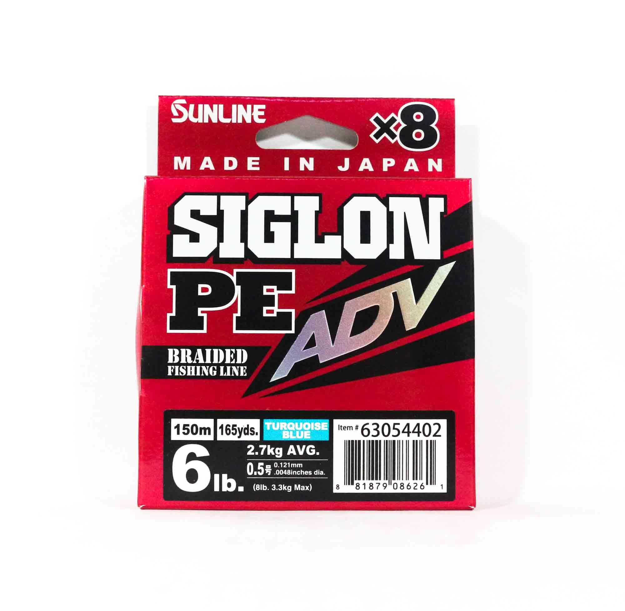 Sunline Siglon PE Advance X8 150M P.E 0.5 6LB Blue (6261)