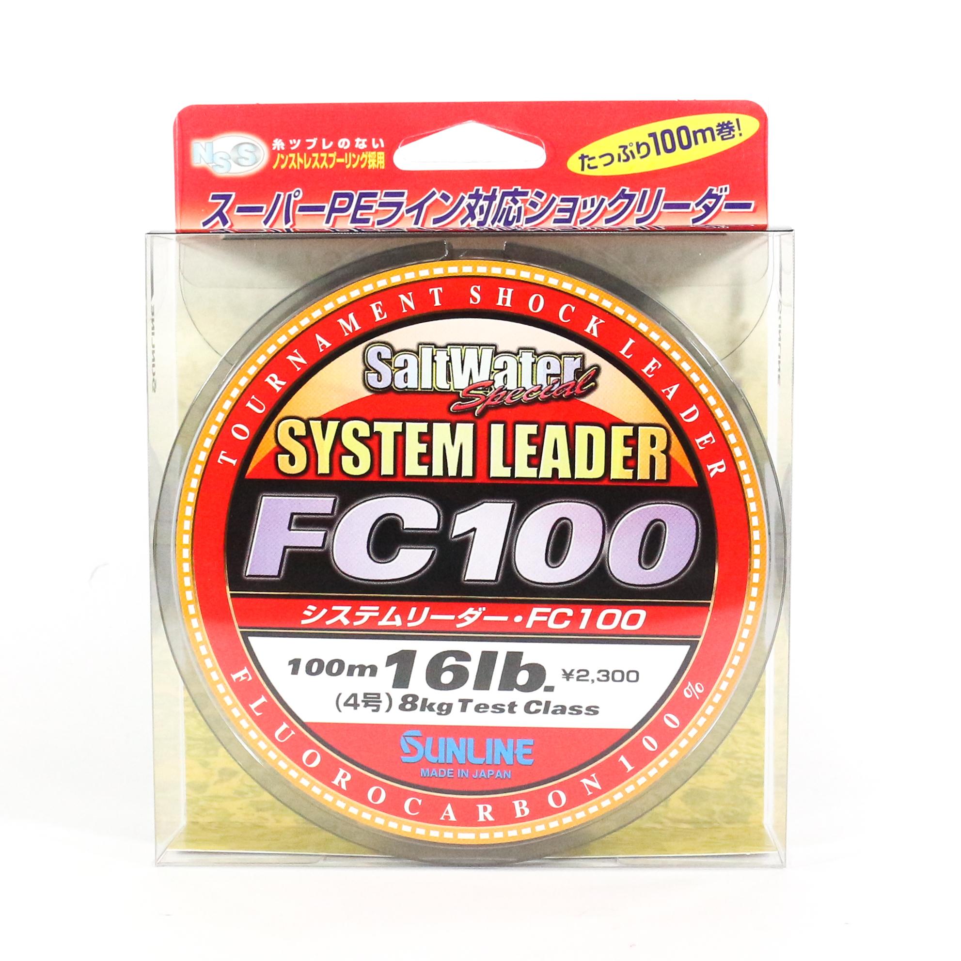 Sunline System 100 Fluorocarbon Shock Leader Line 100m 16lb (1819)