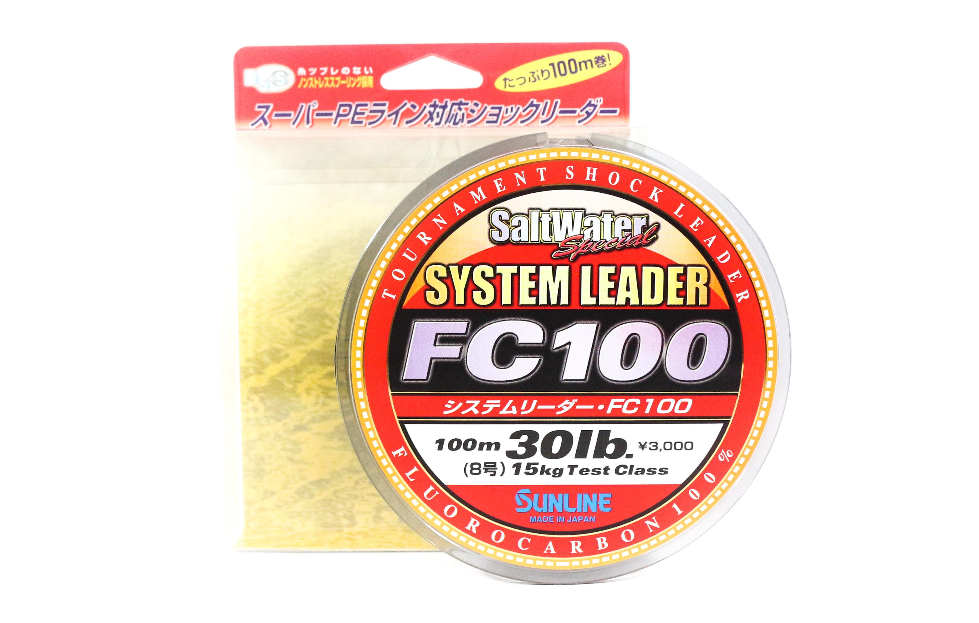 Sunline System 100 Fluorocarbon Shock Leader Line 100m 30lb (1833)