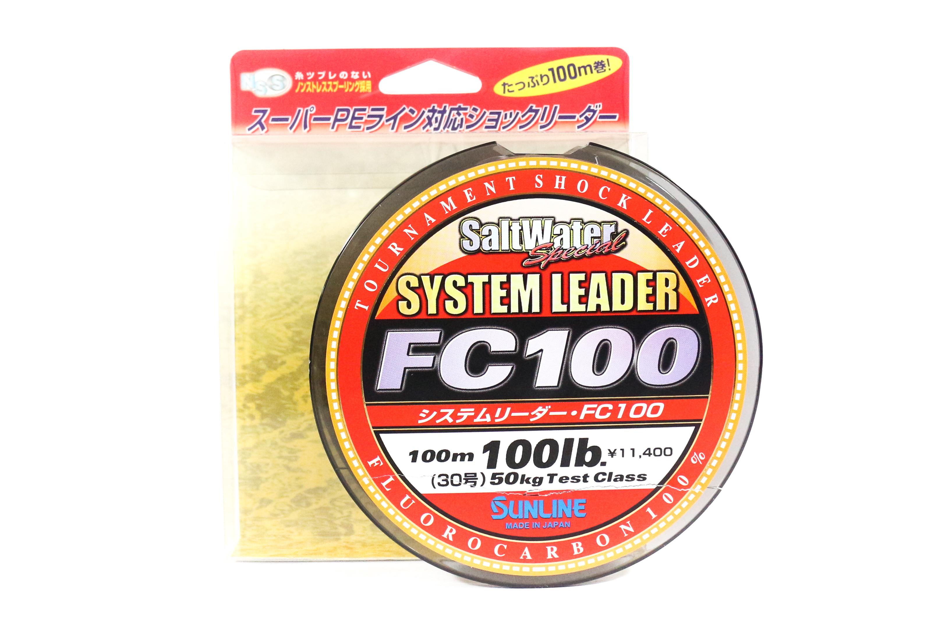 Sunline System 100 Fluorocarbon Shock Leader Line 100m 100lb (1949)