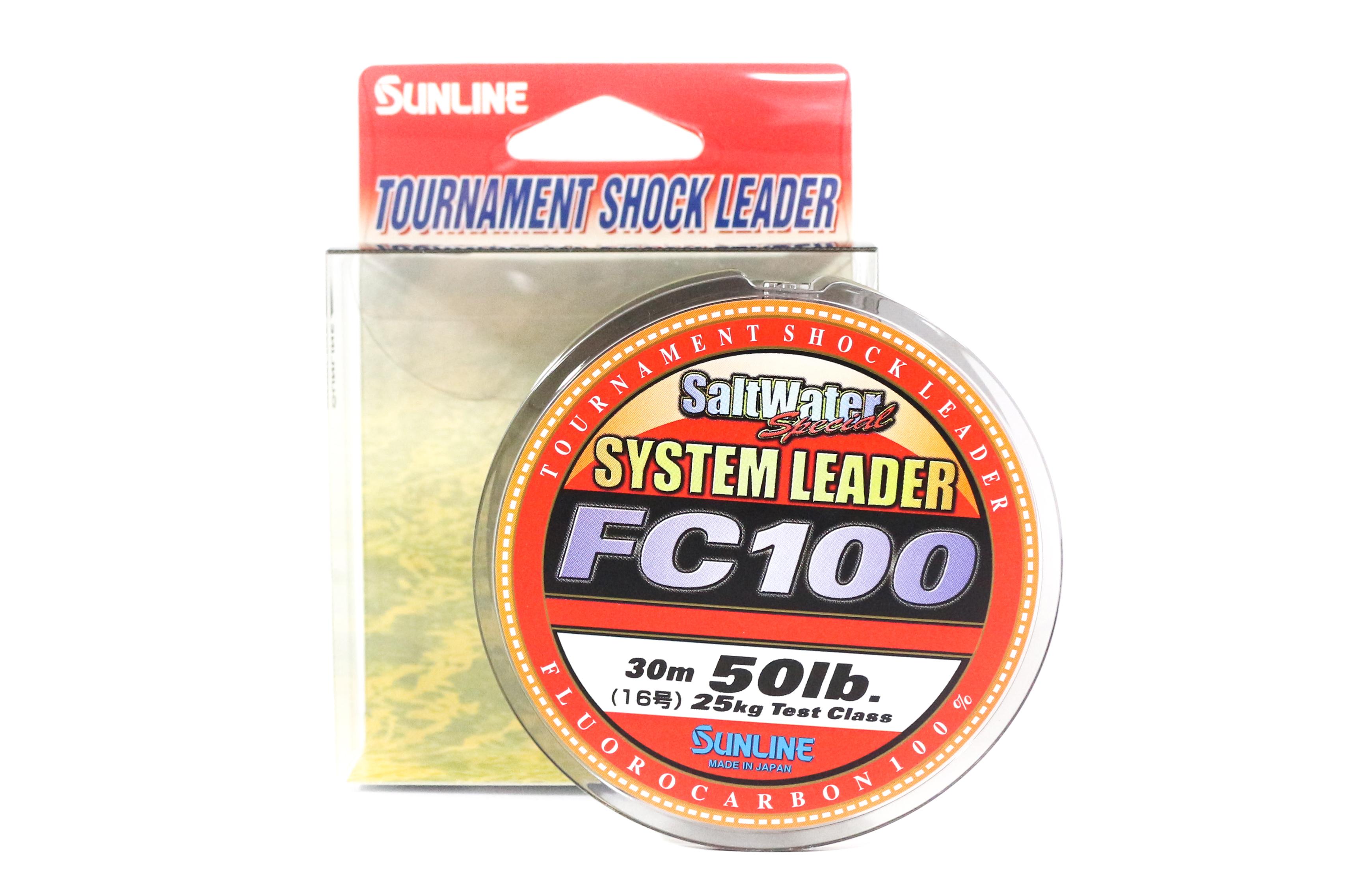 Sunline System 100 Fluorocarbon Shock Leader Line 30m 50lb (6998)