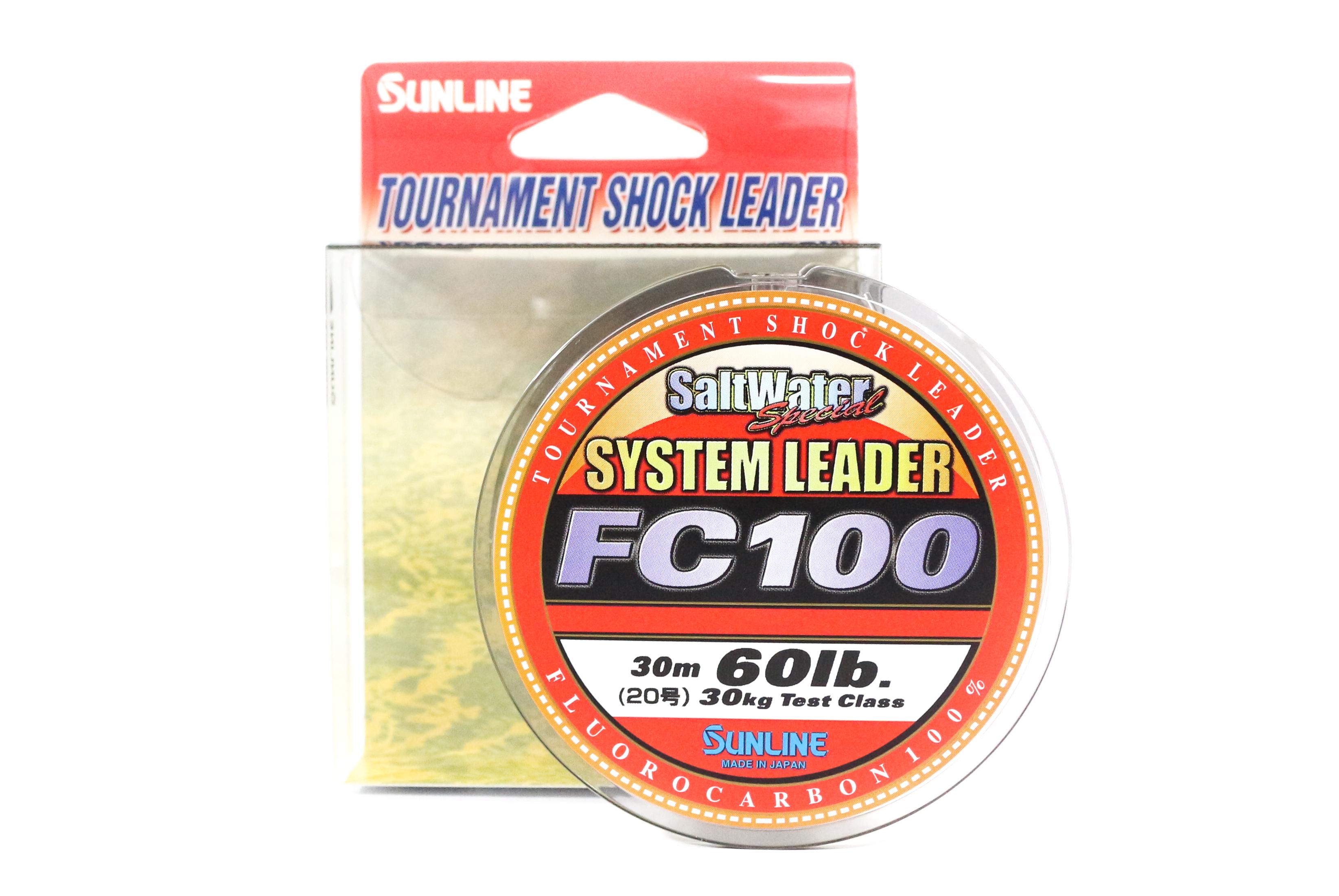 Sunline System 100 Fluorocarbon Shock Leader Line 30m 60lb (7018)