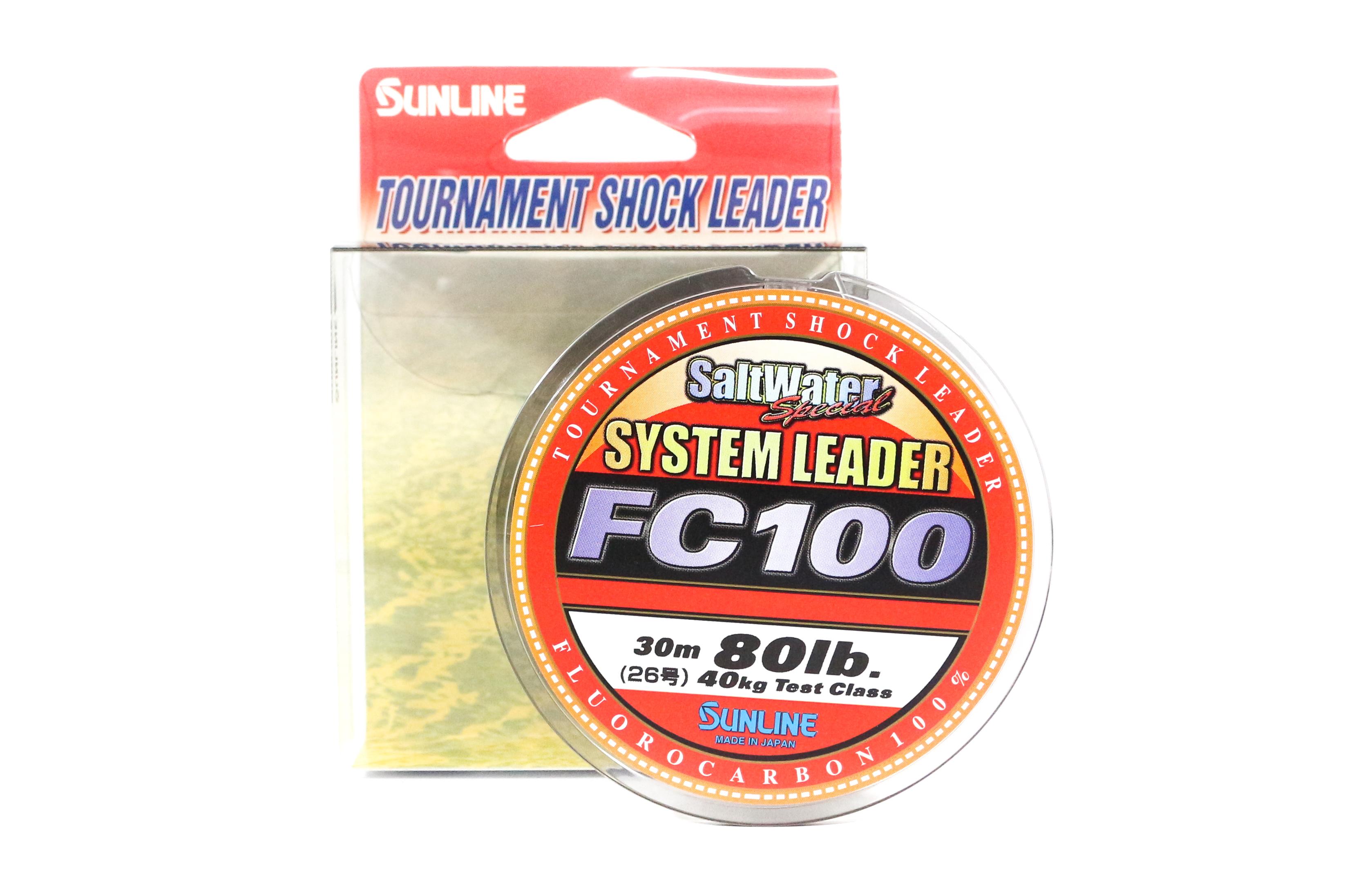 Sunline System 100 Fluorocarbon Shock Leader Line 30m 80lb (7049)