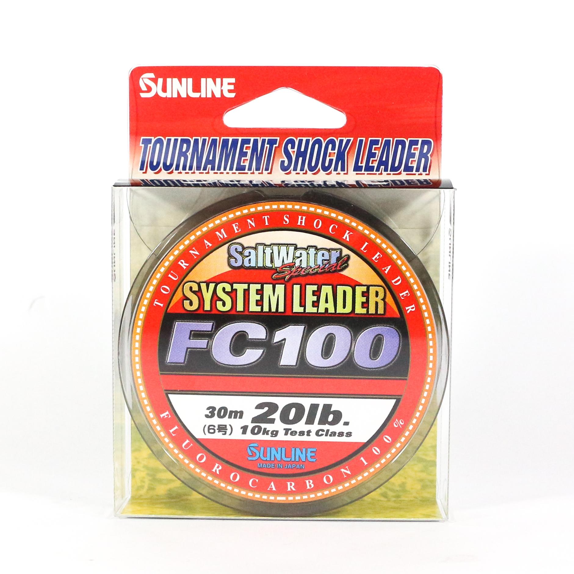 Sunline System 100 Fluorocarbon Shock Leader Line 30m 20lb (0285)