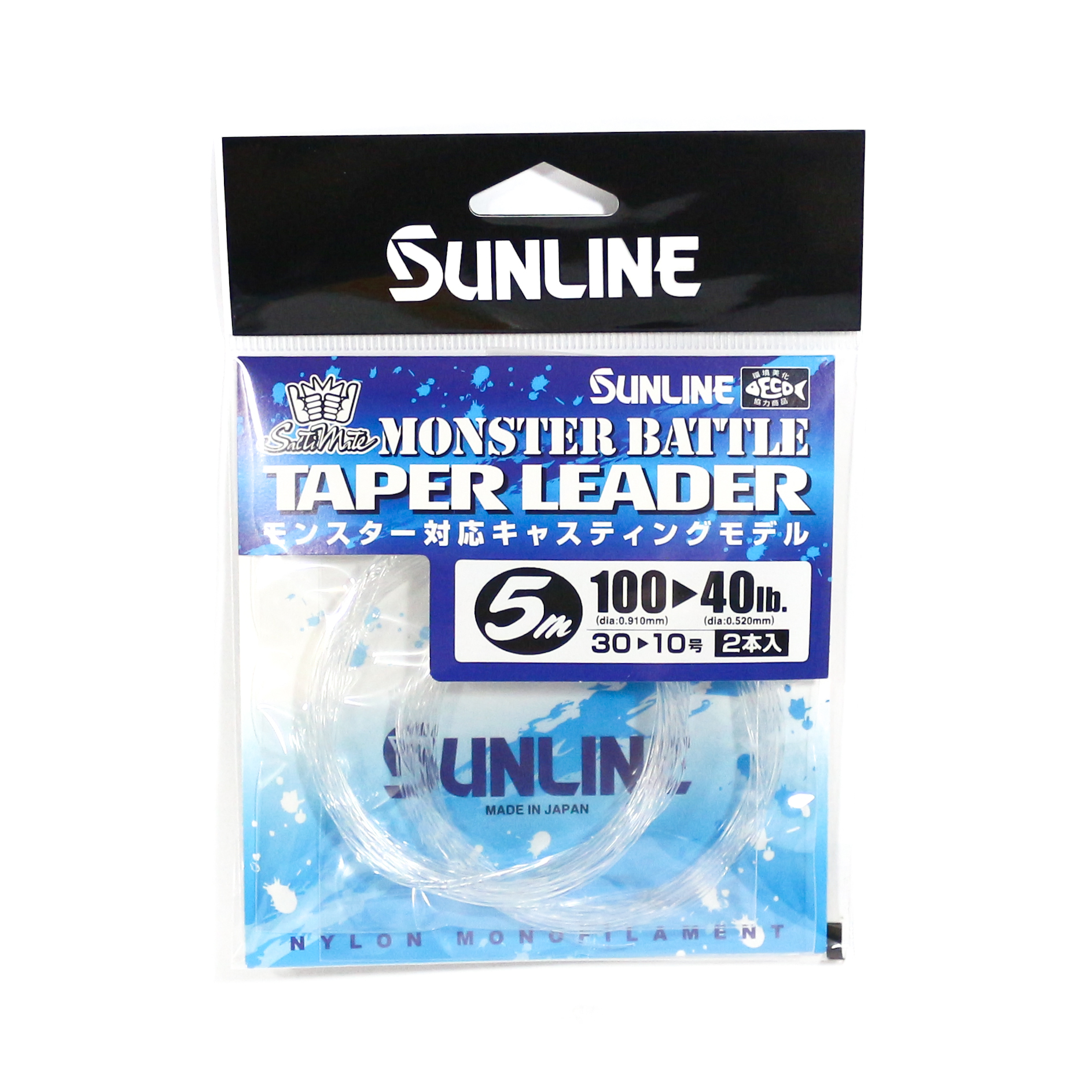 Sunline Taper Leader Monster Battle Nylon Line 5m , 40-100 lb (8638)