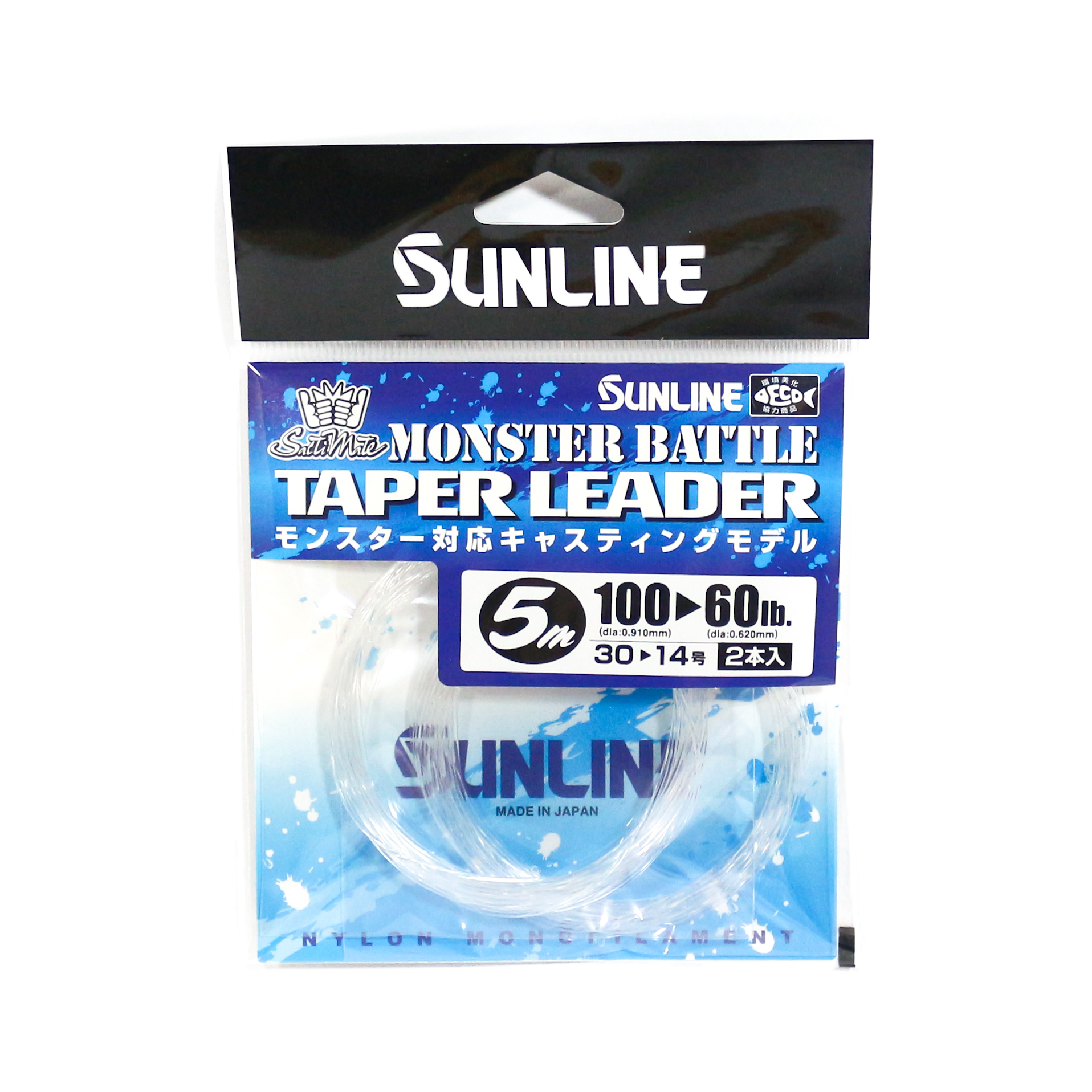 Sunline Taper Leader Monster Battle Nylon Line 5m , 60-100 lb (8652)