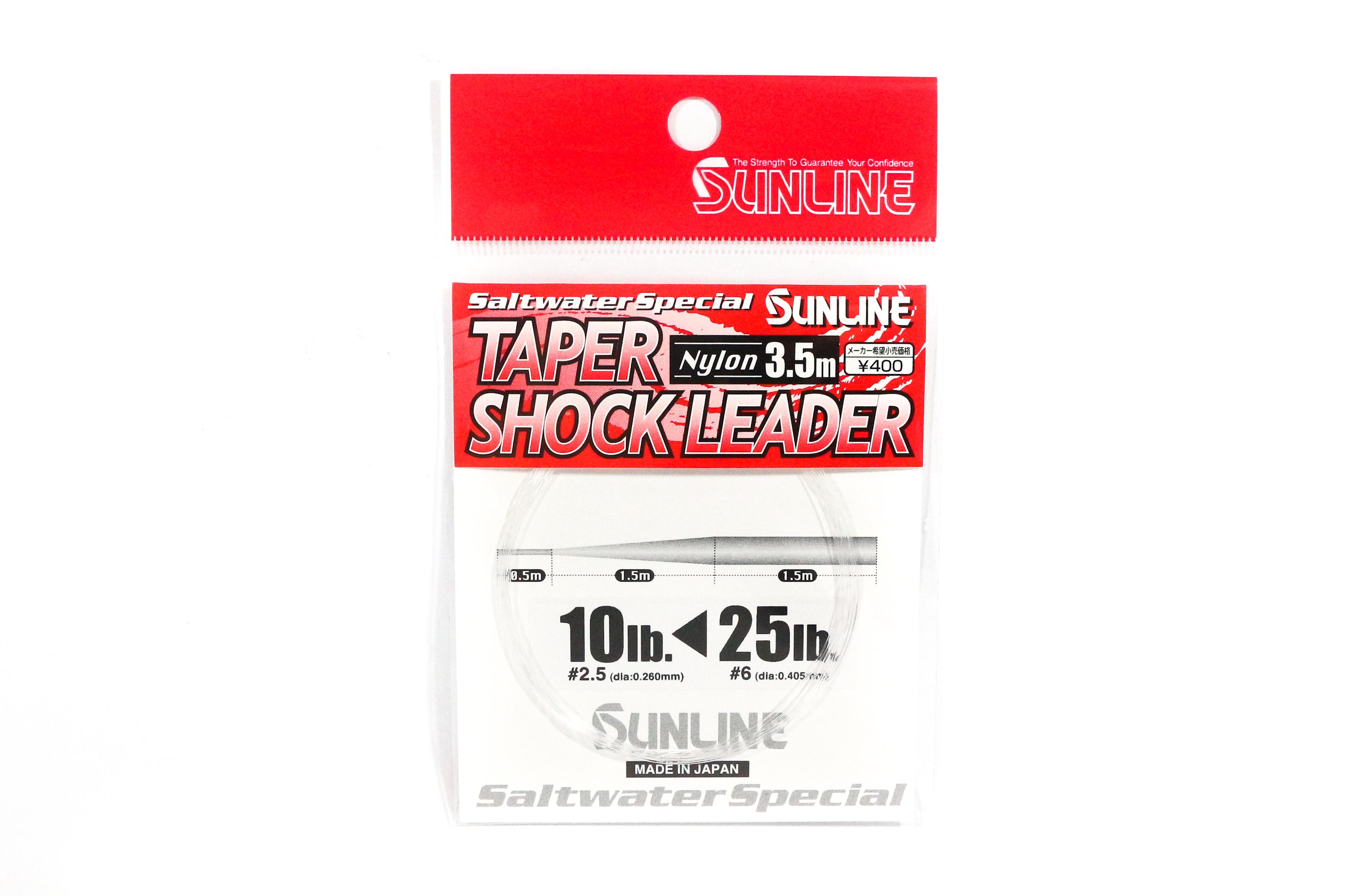 Sunline Taper Shock Leader Nylon Line 3.5m , 10-25 lb (3191)