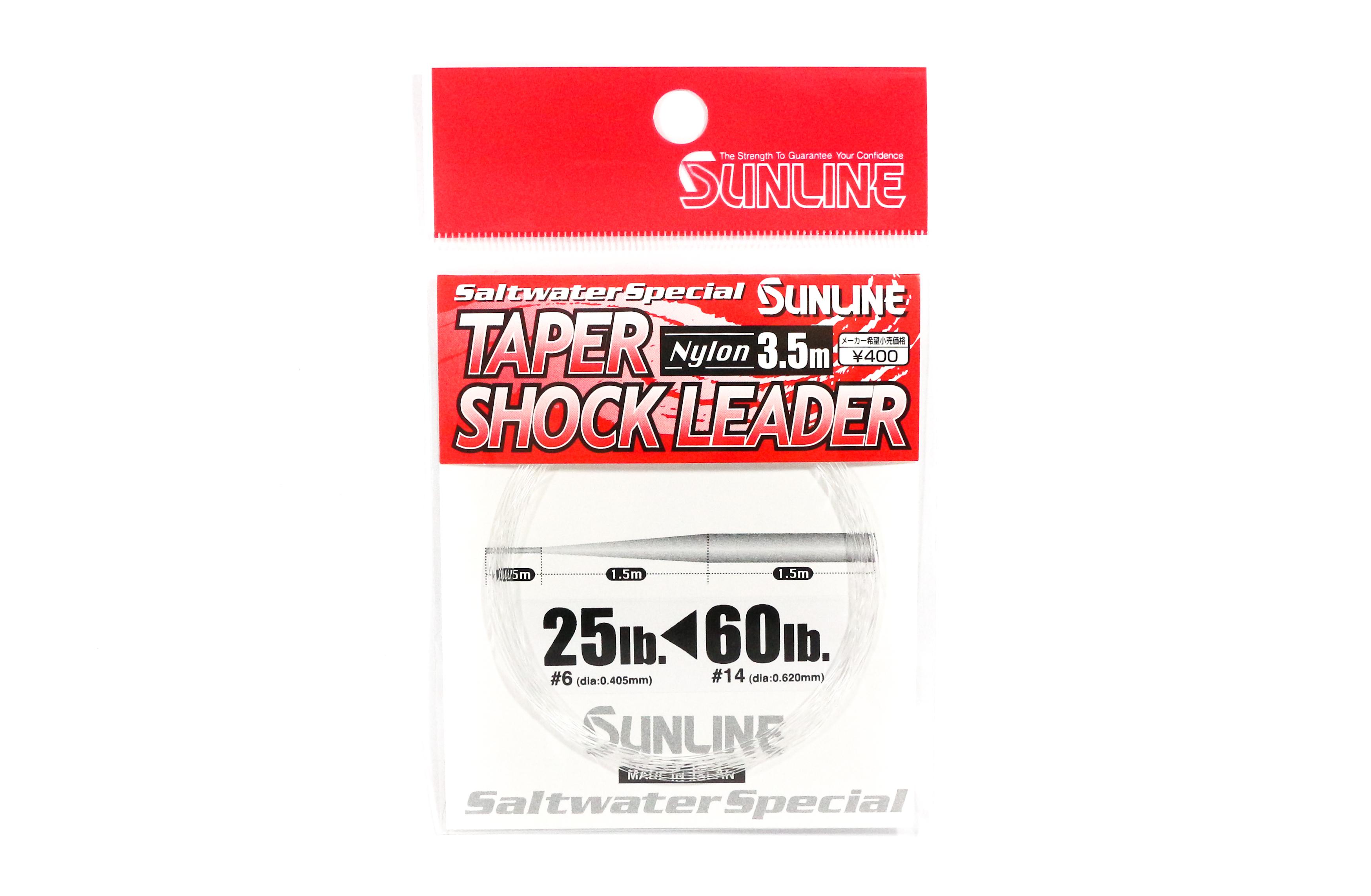 Sunline Taper Shock Leader Nylon Line 3.5m , 25-60 lb (3245)