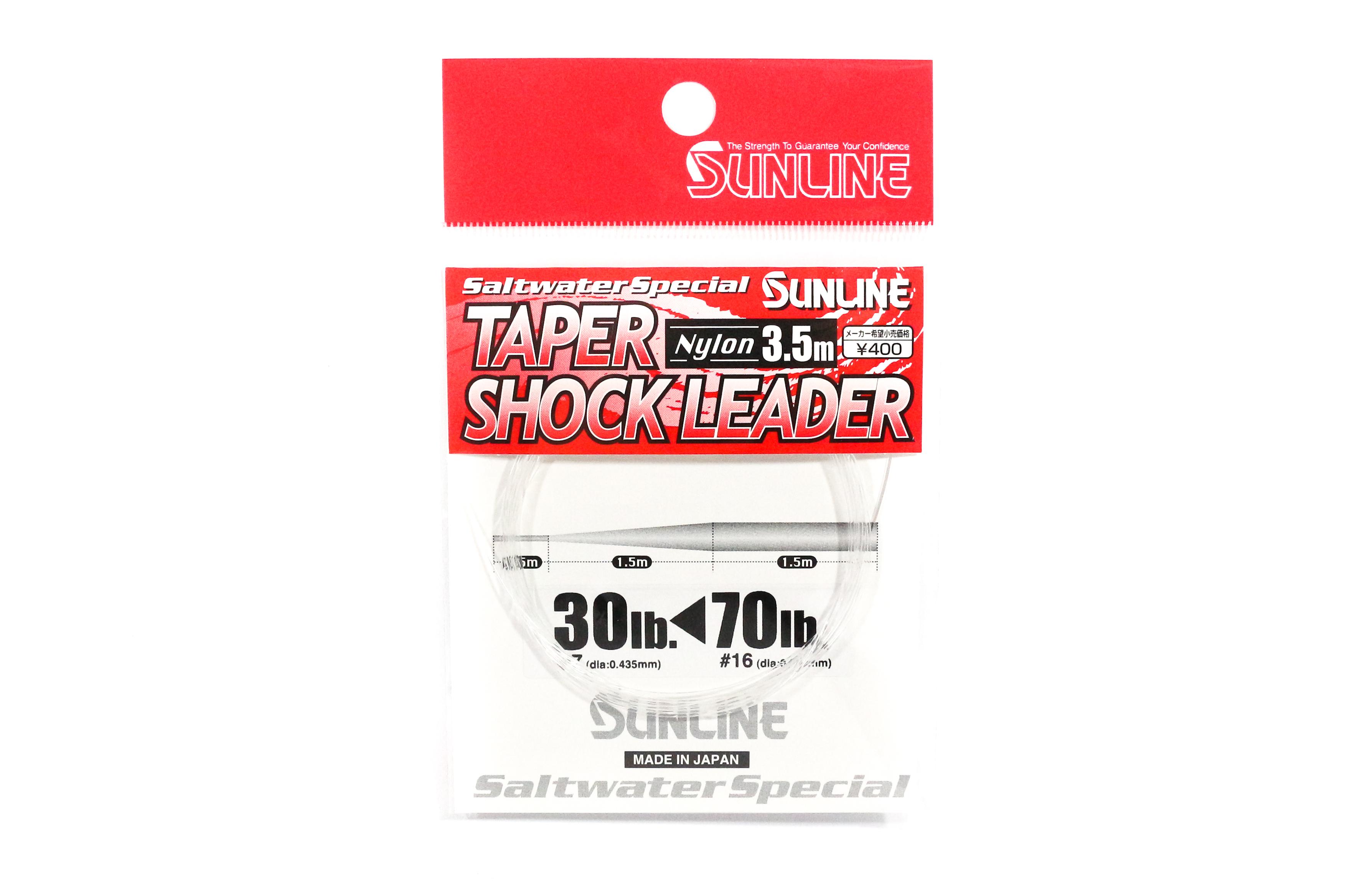 Sunline Taper Shock Leader Nylon Line 3.5m , 30-70 lb (3252)