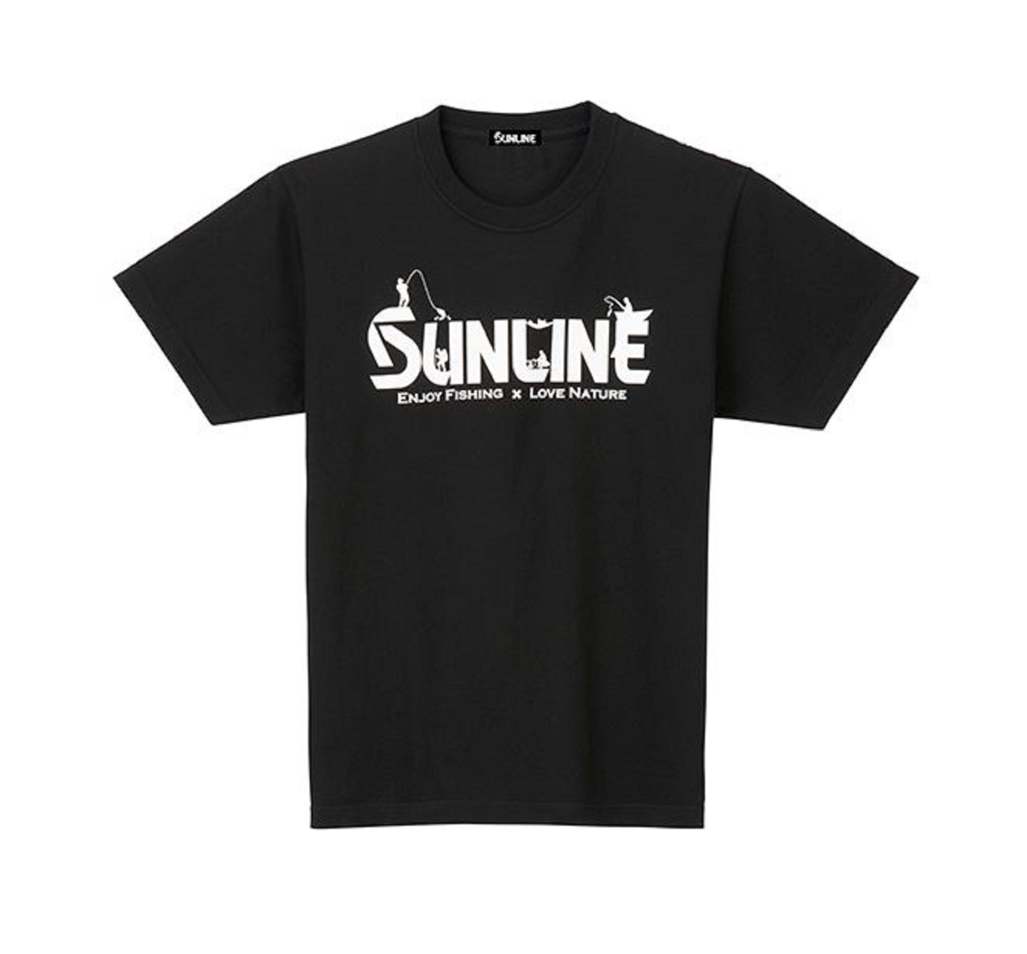 Sunline SUW-15020T T-Shirt Cotton Short Sleeve Black Size M (3033)