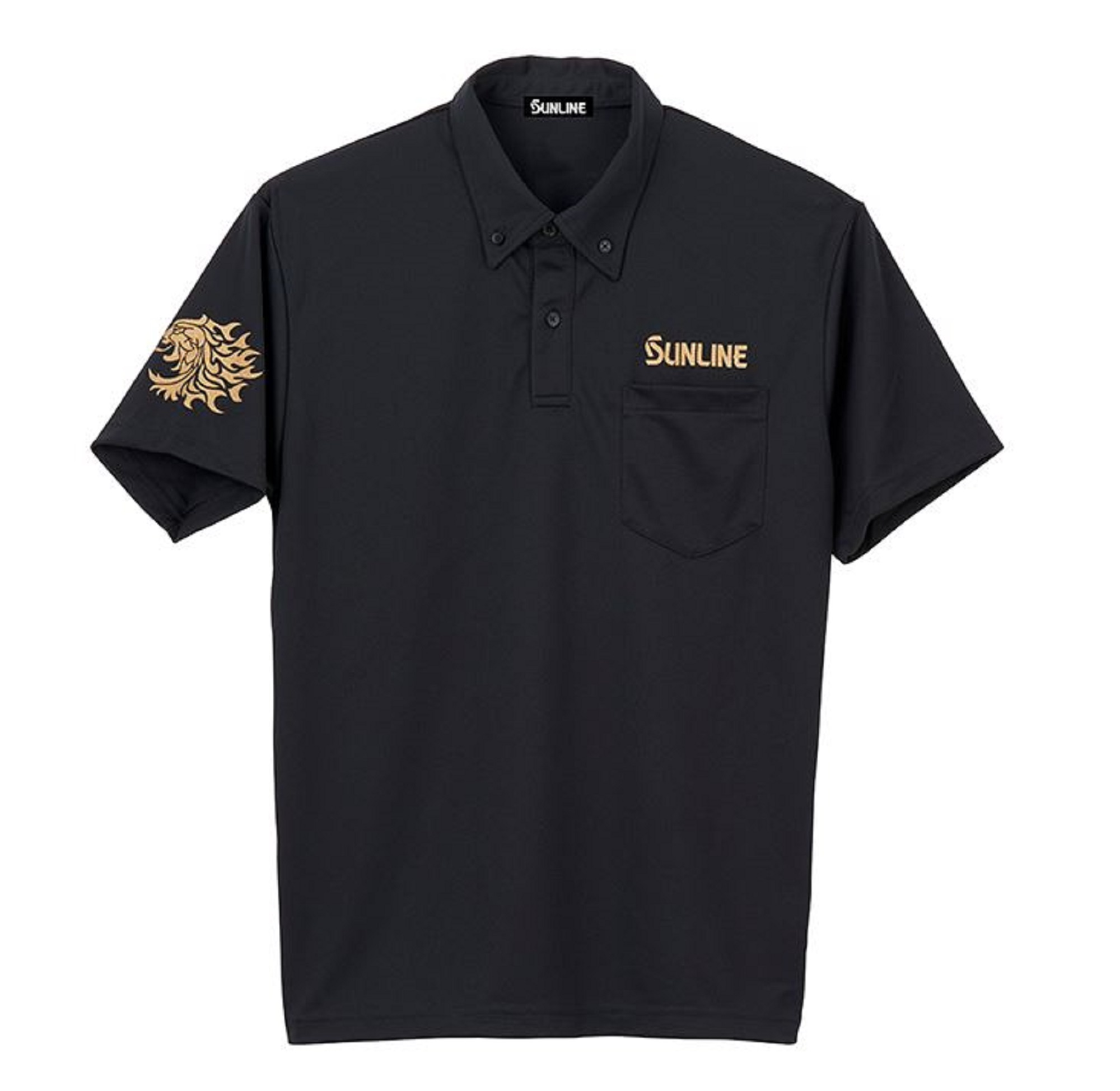 Sunline SUW-15025DP Polo Shirt Dri Fit Short Sleeve Black Size M (3880)