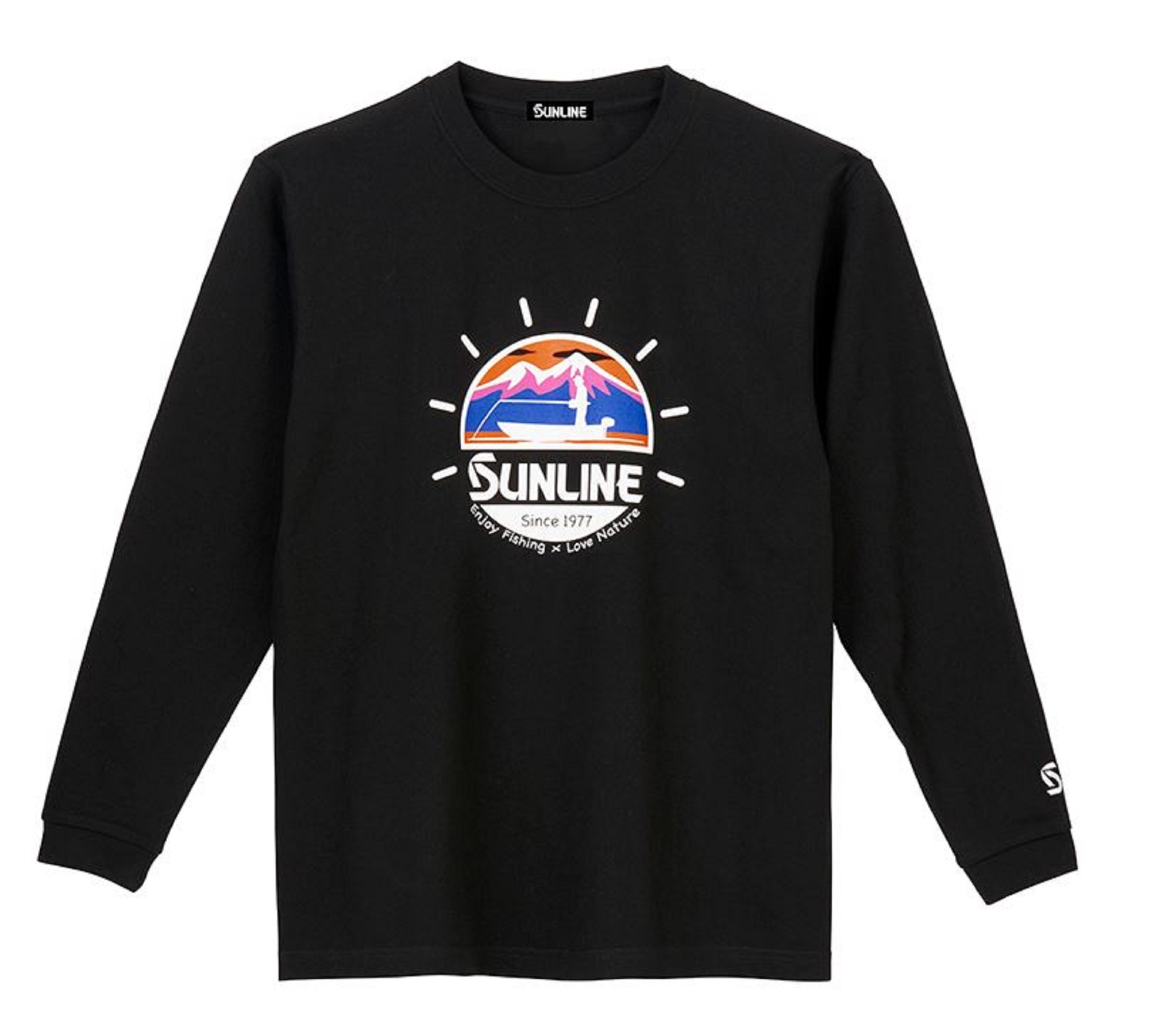 Sunline SUW-15026LT T-Shirt Cotton Long Sleeve Black Size L (4047)